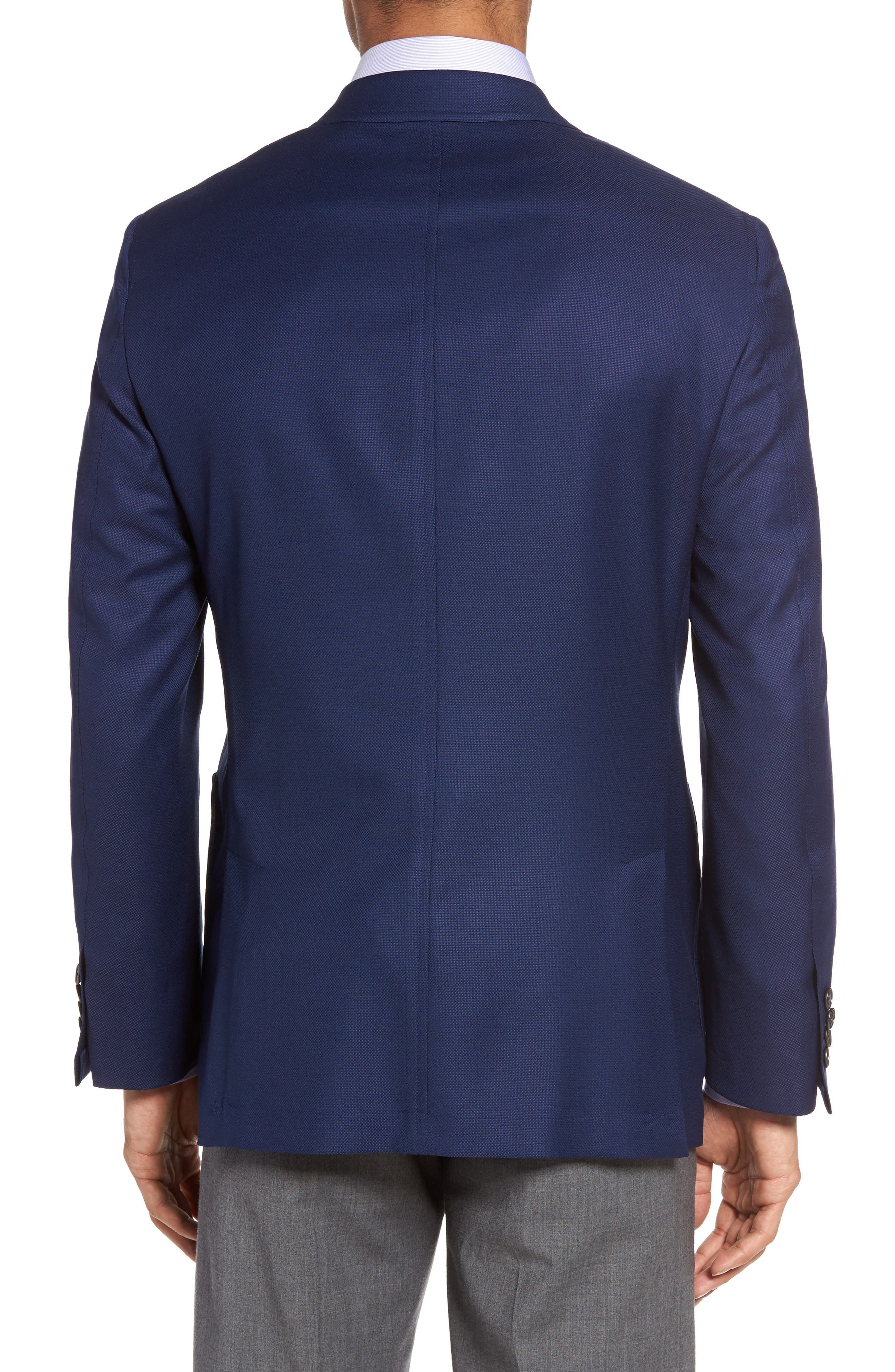 Classic B Fit Global Guardian Wool Blazer,                             Alternate thumbnail 2, color,                             Blue