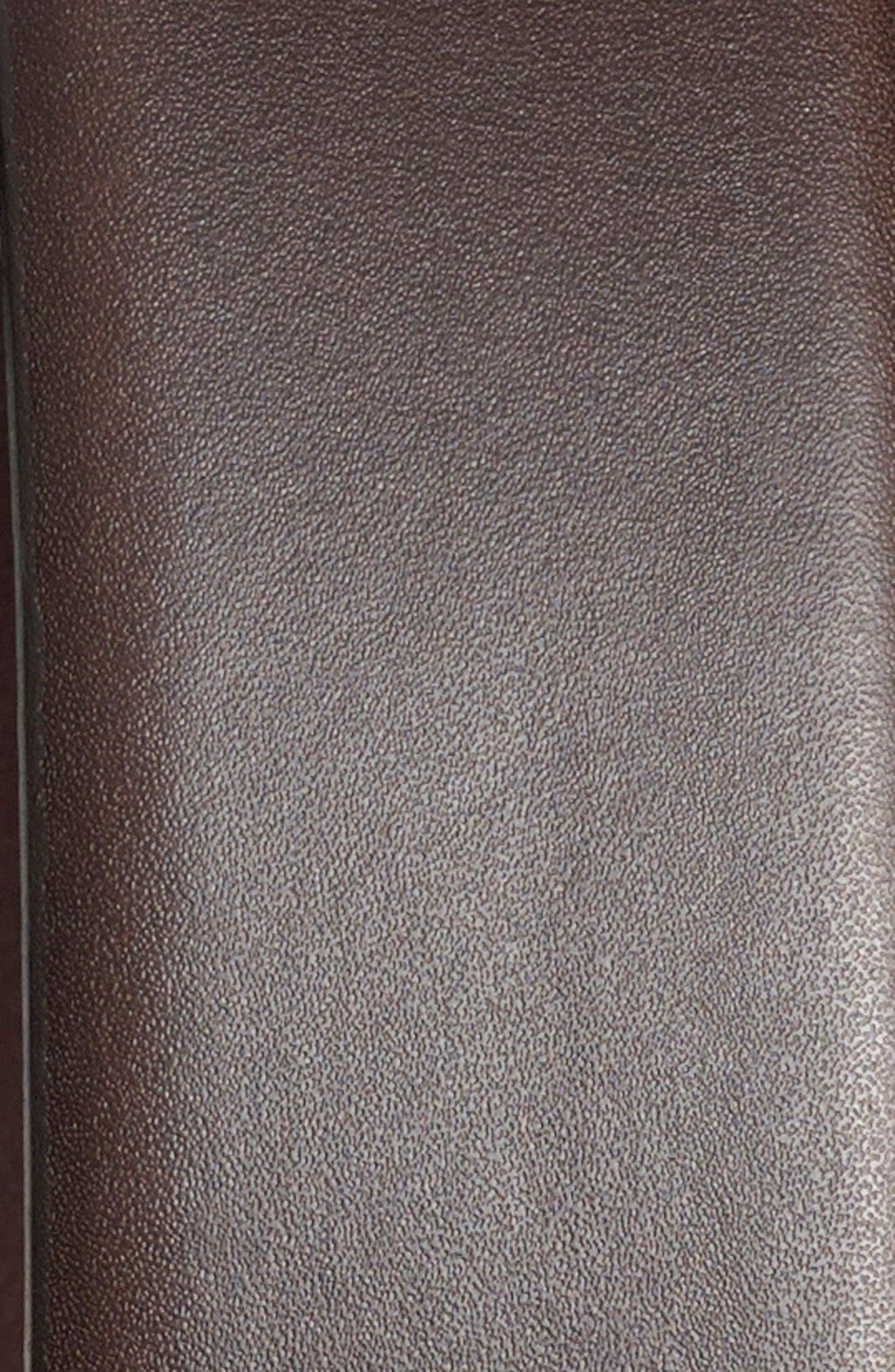 'Brandon' Leather Belt,                             Alternate thumbnail 2, color,                             Dark Brown