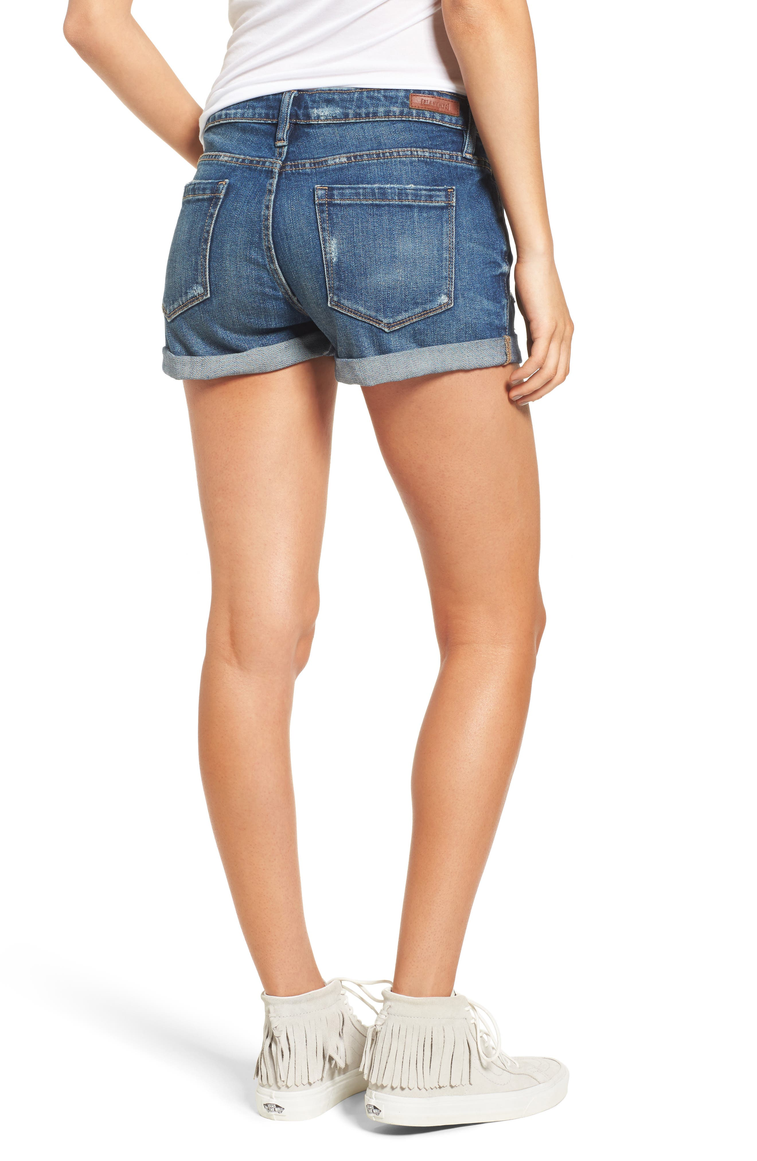 Alternate Image 2  - BLANKNYC Boyfriend Denim Shorts (Dress Down Party)