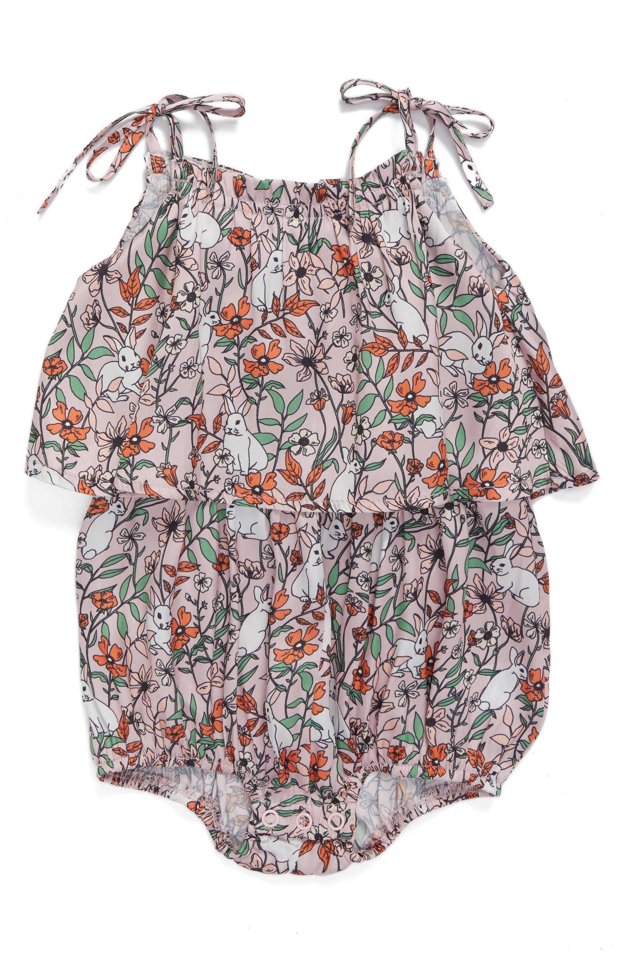 Frill Layer Bodysuit,                         Main,                         color, Bunny Print