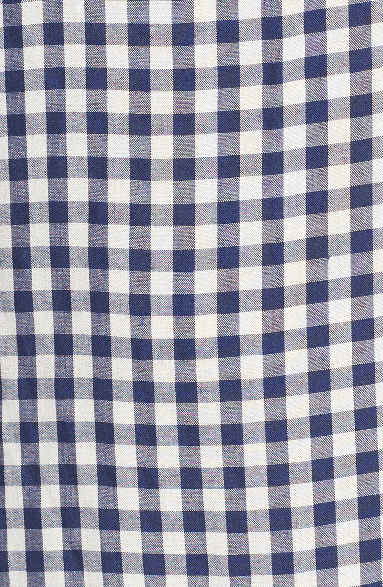 Alternate Image 6  - Velvet by Graham & Spencer One-Shoulder Check Dress