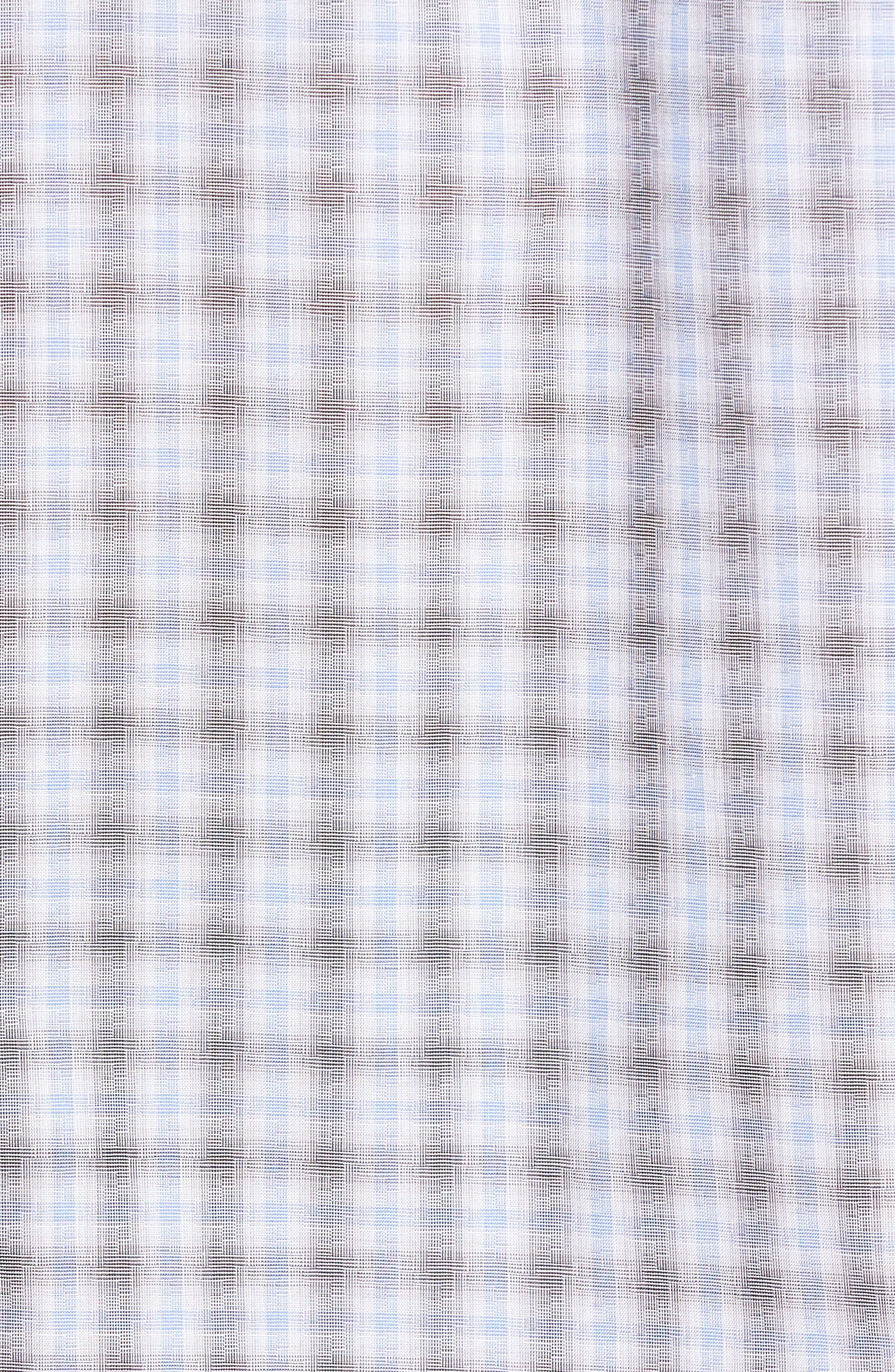 Cristiano Trim Fit Plaid Sport Shirt,                             Alternate thumbnail 5, color,                             Grey