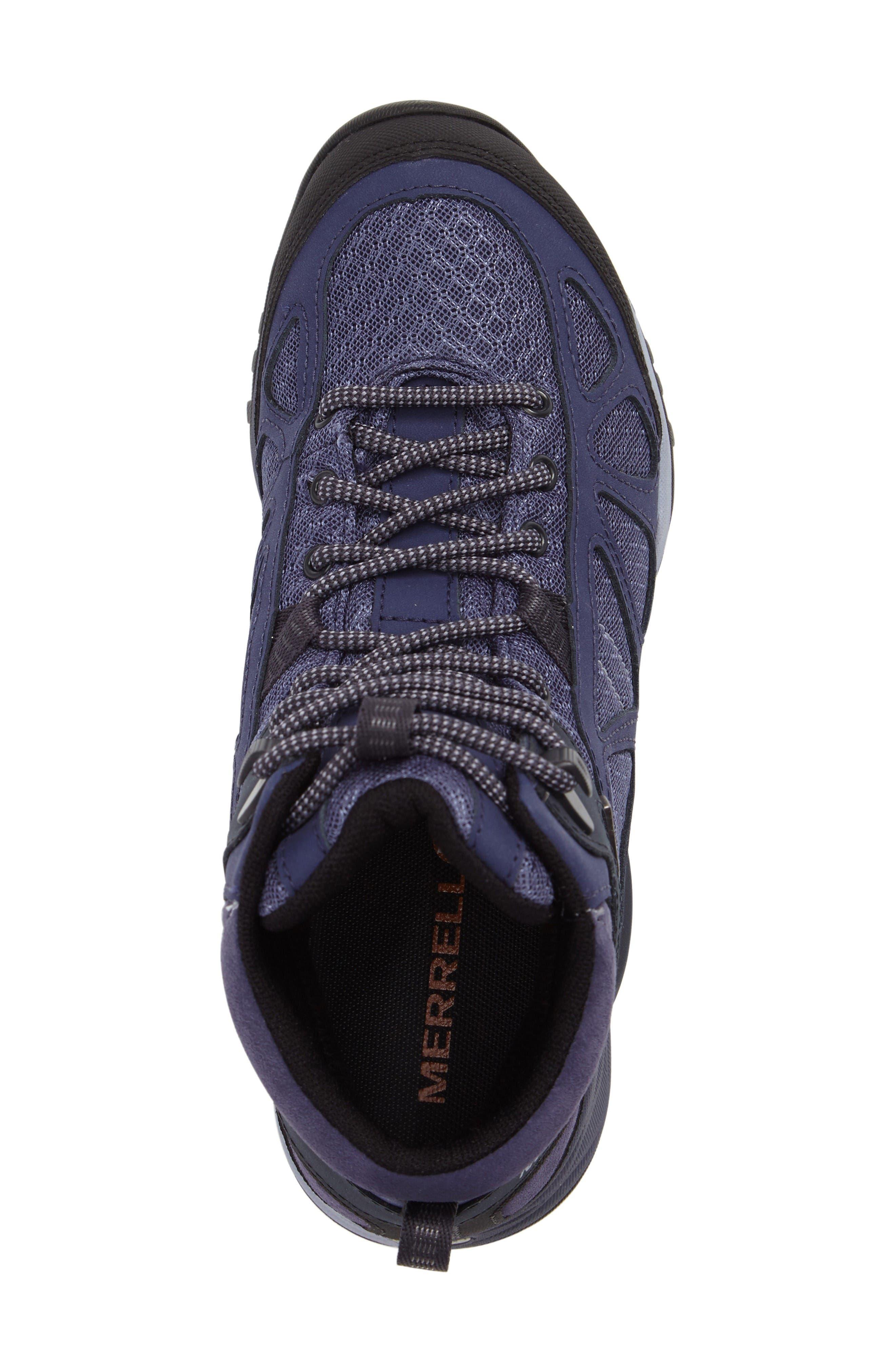 Siren Sport Q2 Waterproof Mid Top Sneaker,                             Alternate thumbnail 5, color,                             Crown Blue Nubuck Leather