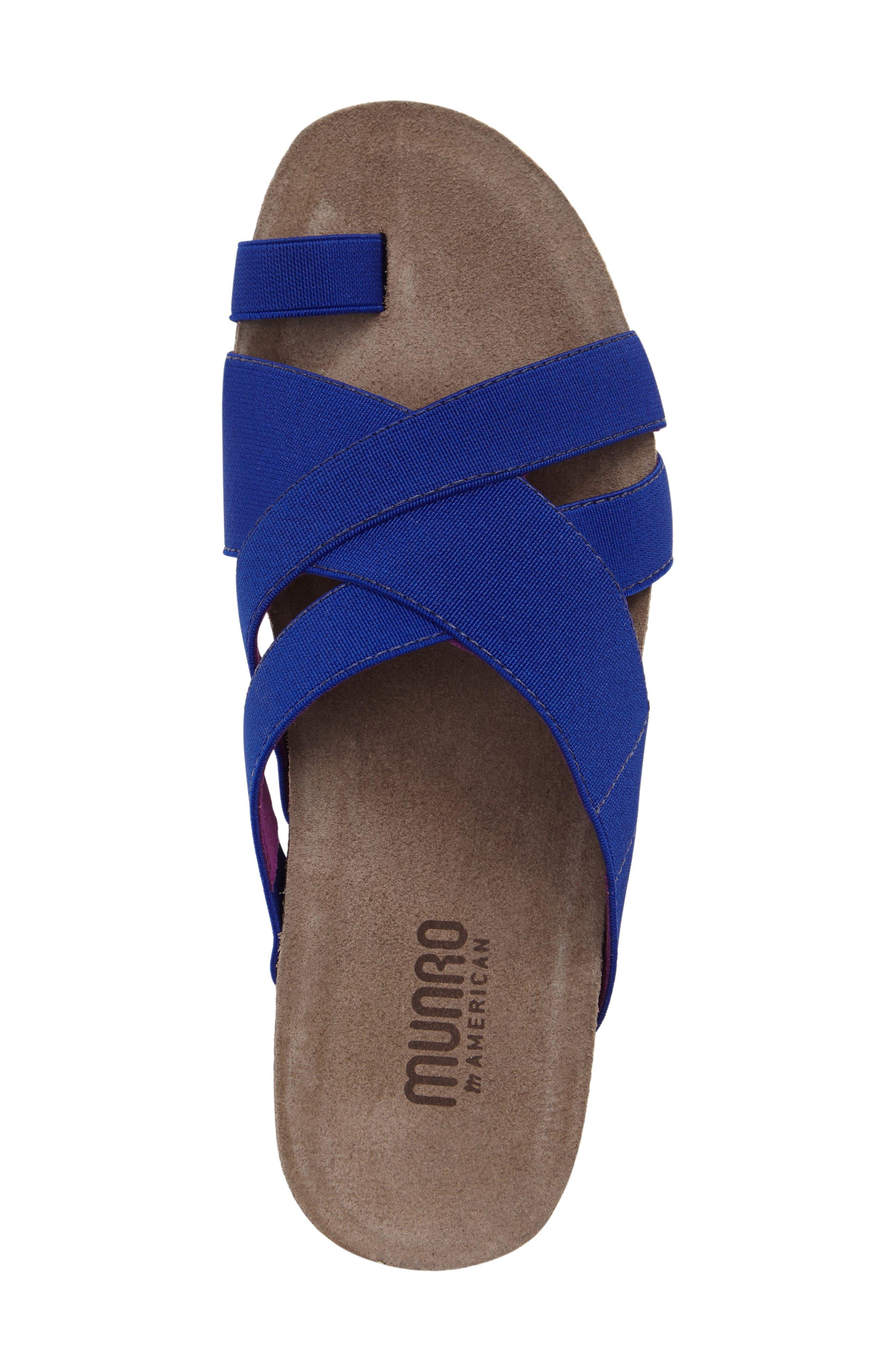 Delphi Slide Sandal,                             Alternate thumbnail 5, color,                             Blue Fabric