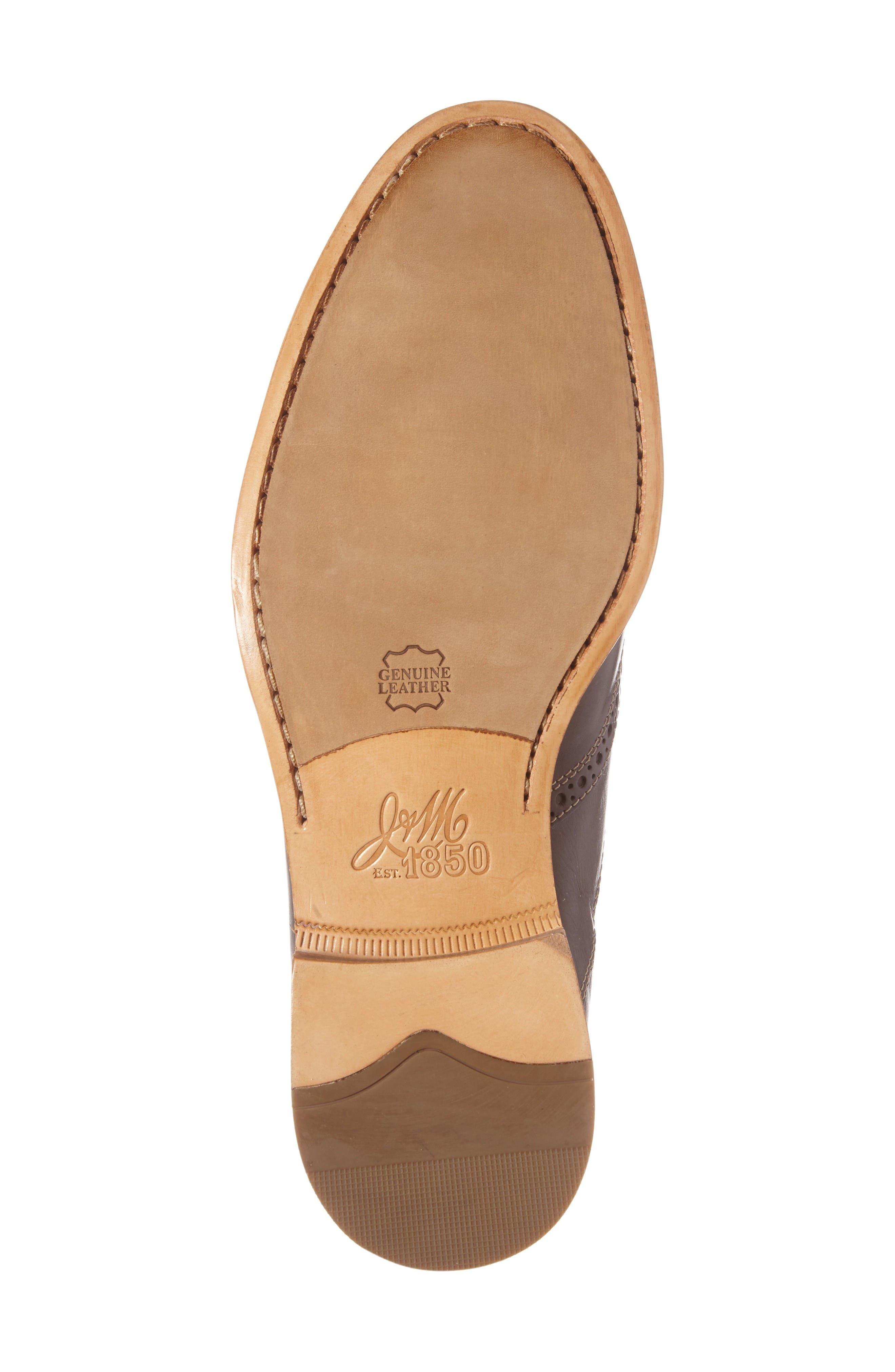 Graham Wingtip Loafer,                             Alternate thumbnail 6, color,                             Dark Brown Calfskin Leather