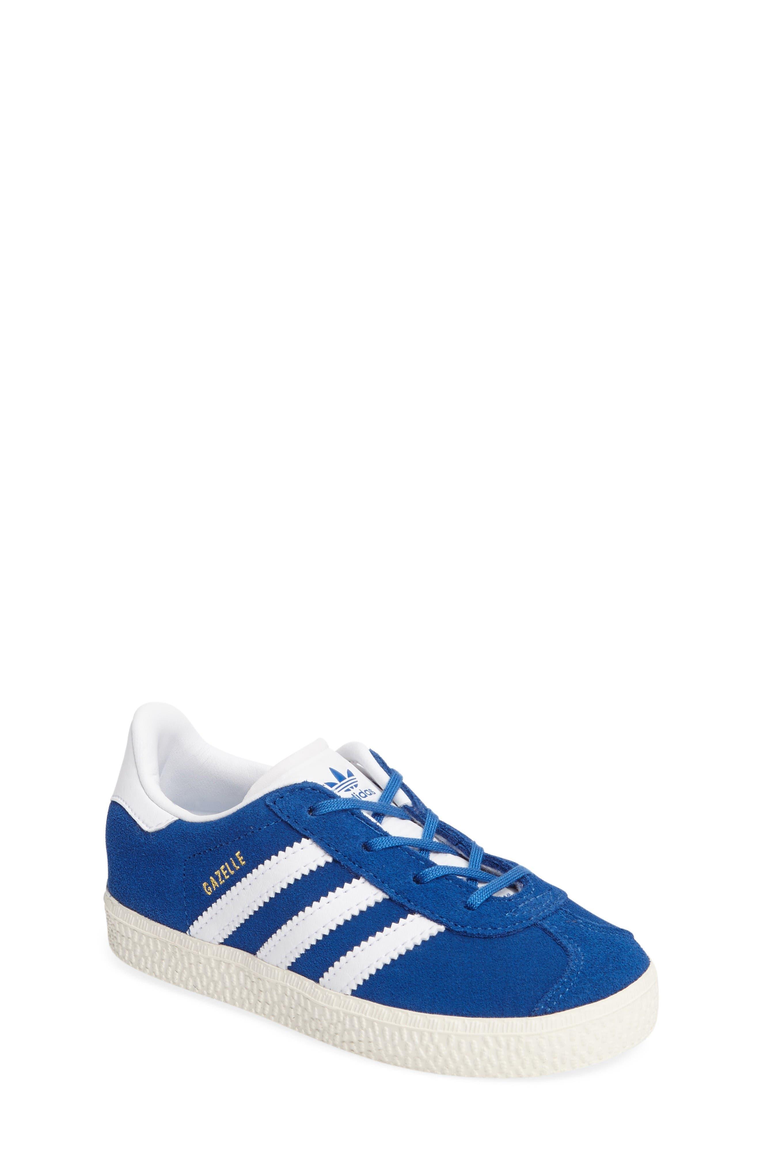 Gazelle Sneaker,                         Main,                         color, Blue/ White/ Gold Metallic