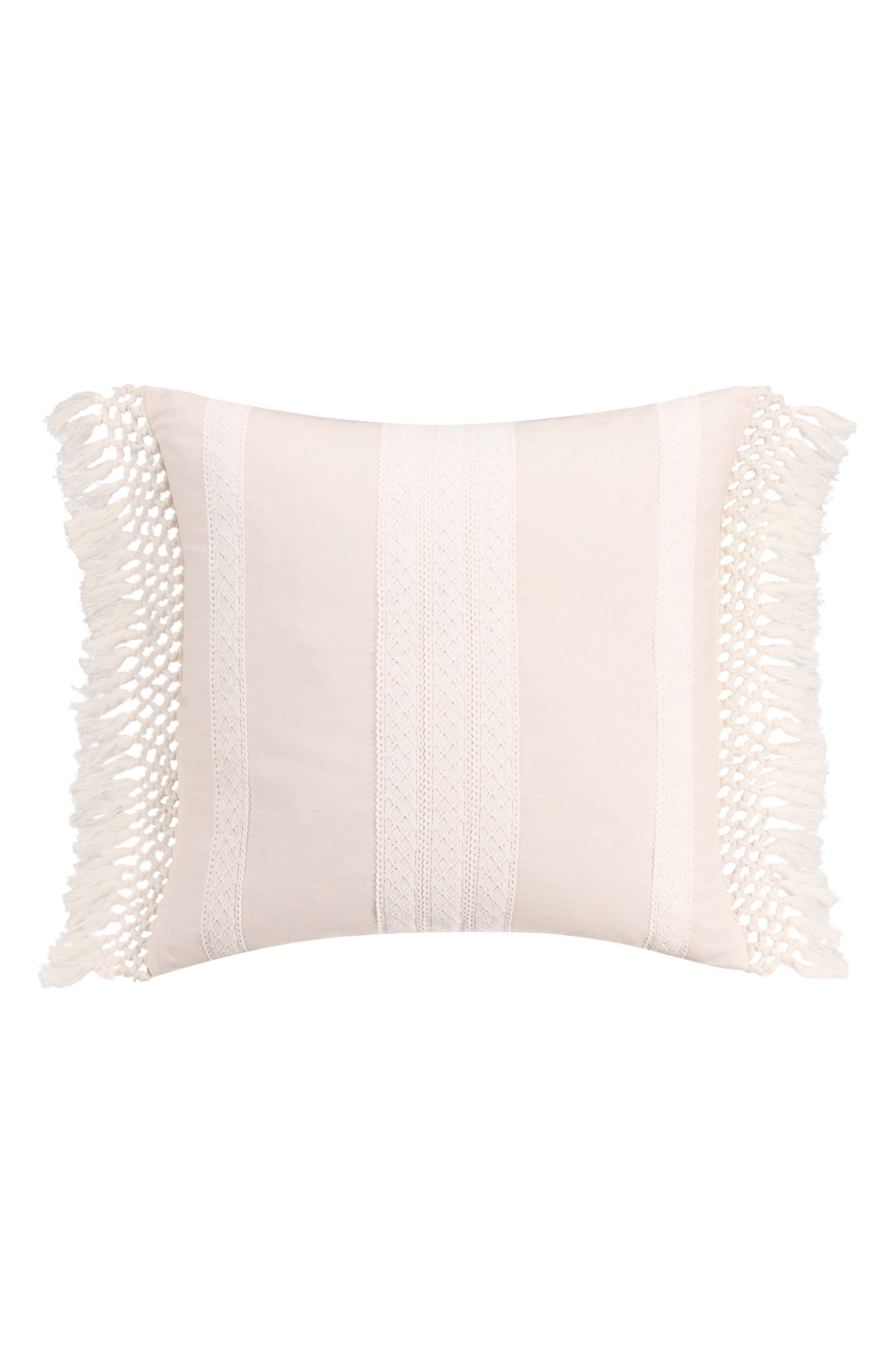 Overscale Tapestry Accent Pillow,                         Main,                         color, White