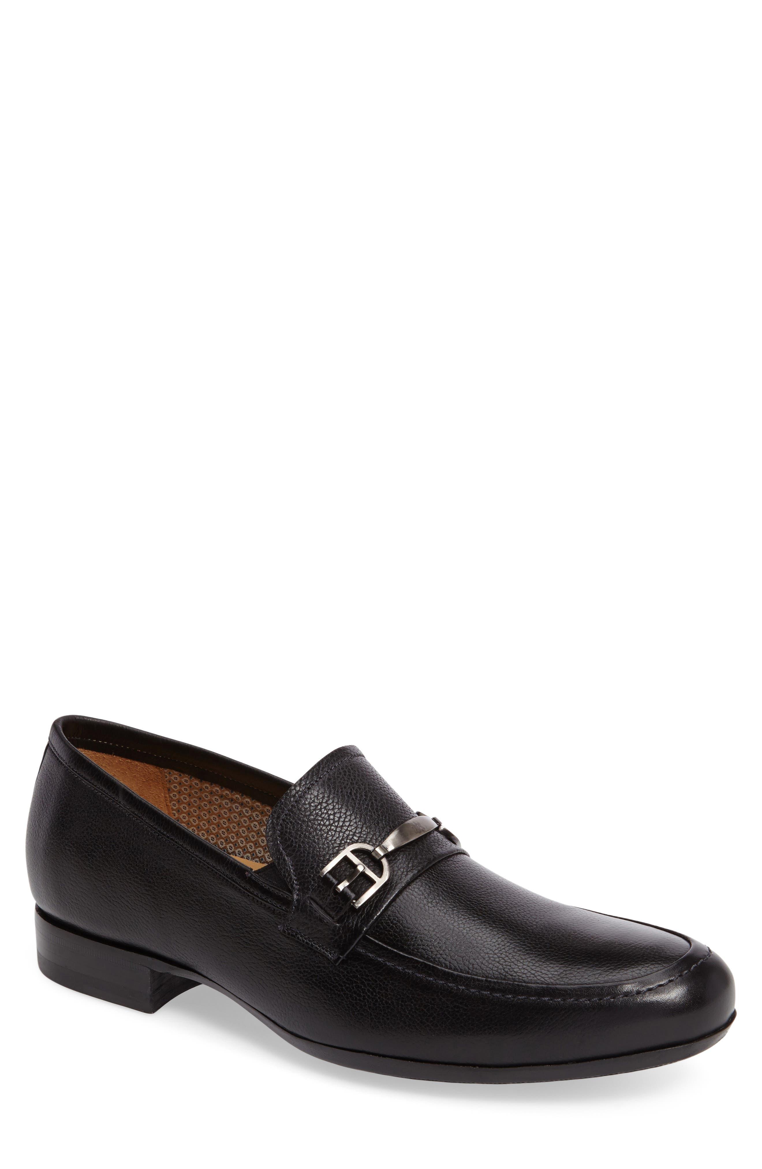 Binet Bit Loafer,                             Main thumbnail 1, color,                             Black Leather