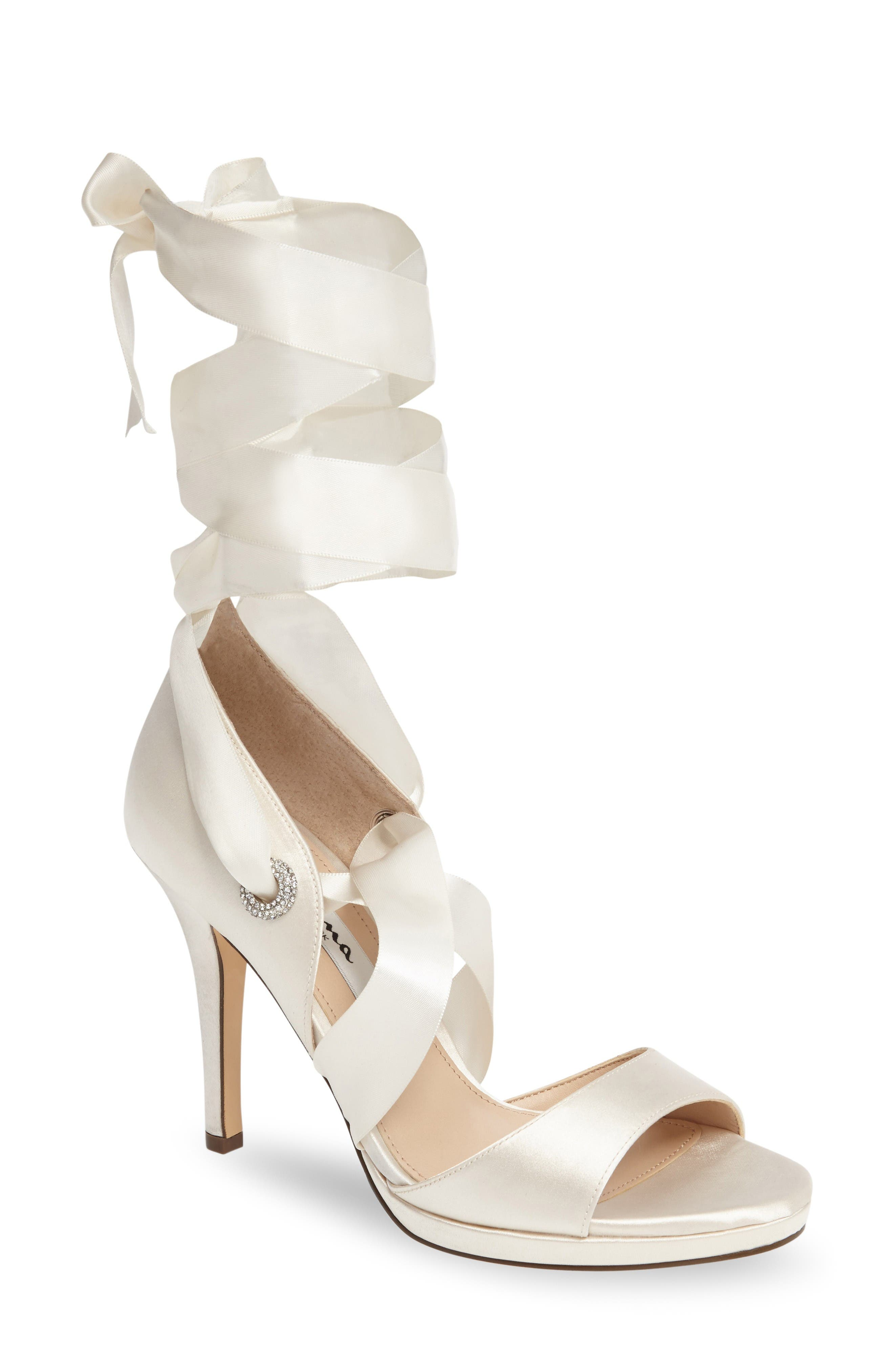 Alternate Image 1 Selected - Nina Ramira Ankle Tie Sandal (Women)