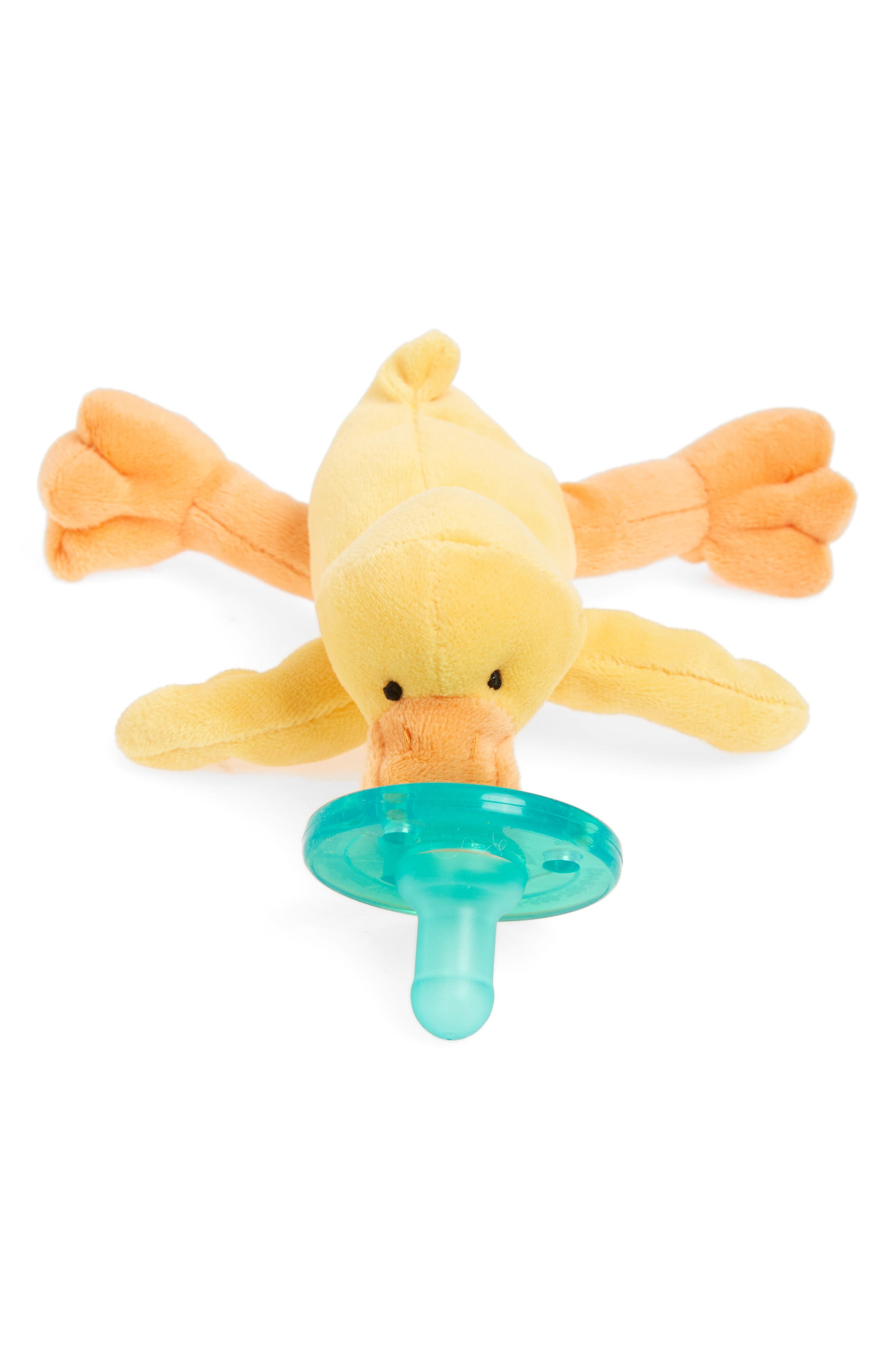 Baby Yellow Duck Pacifier Toy,                             Main thumbnail 1, color,                             Yellow