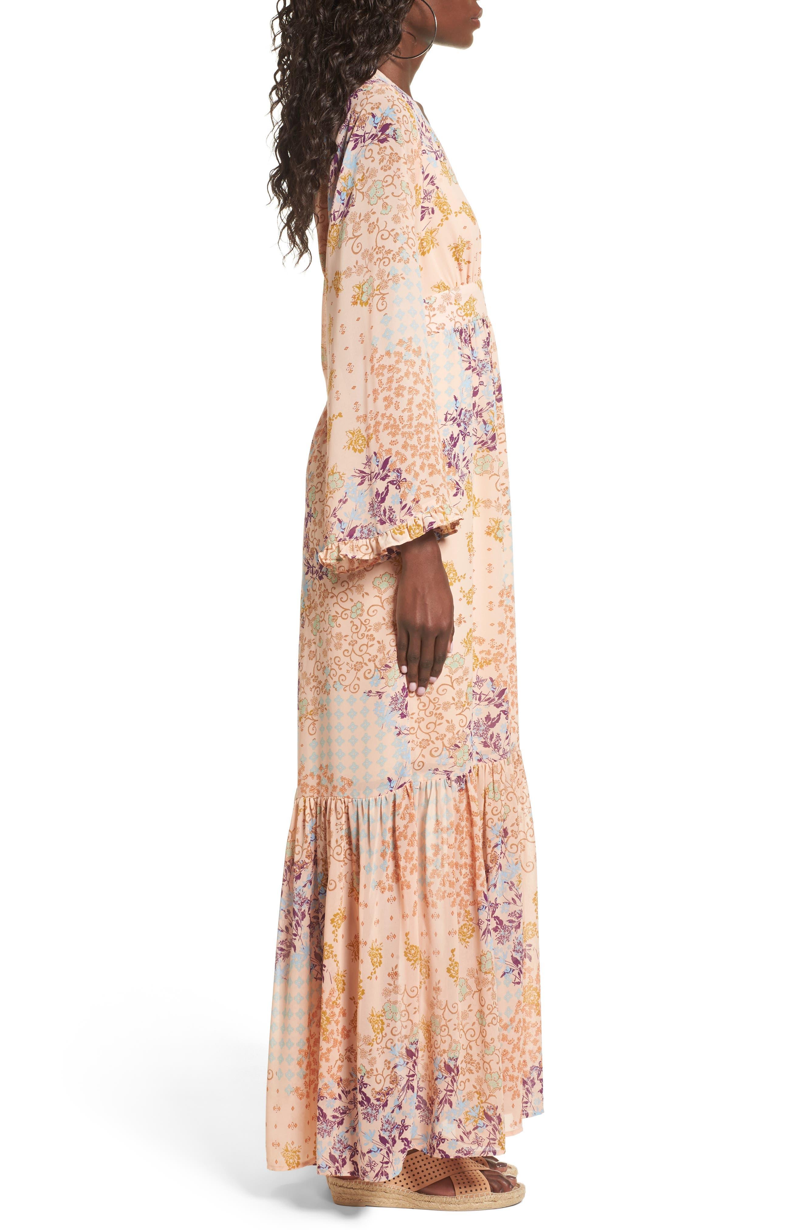 Alternate Image 3  - WAYF Viola Bell Sleeve Maxi Dress