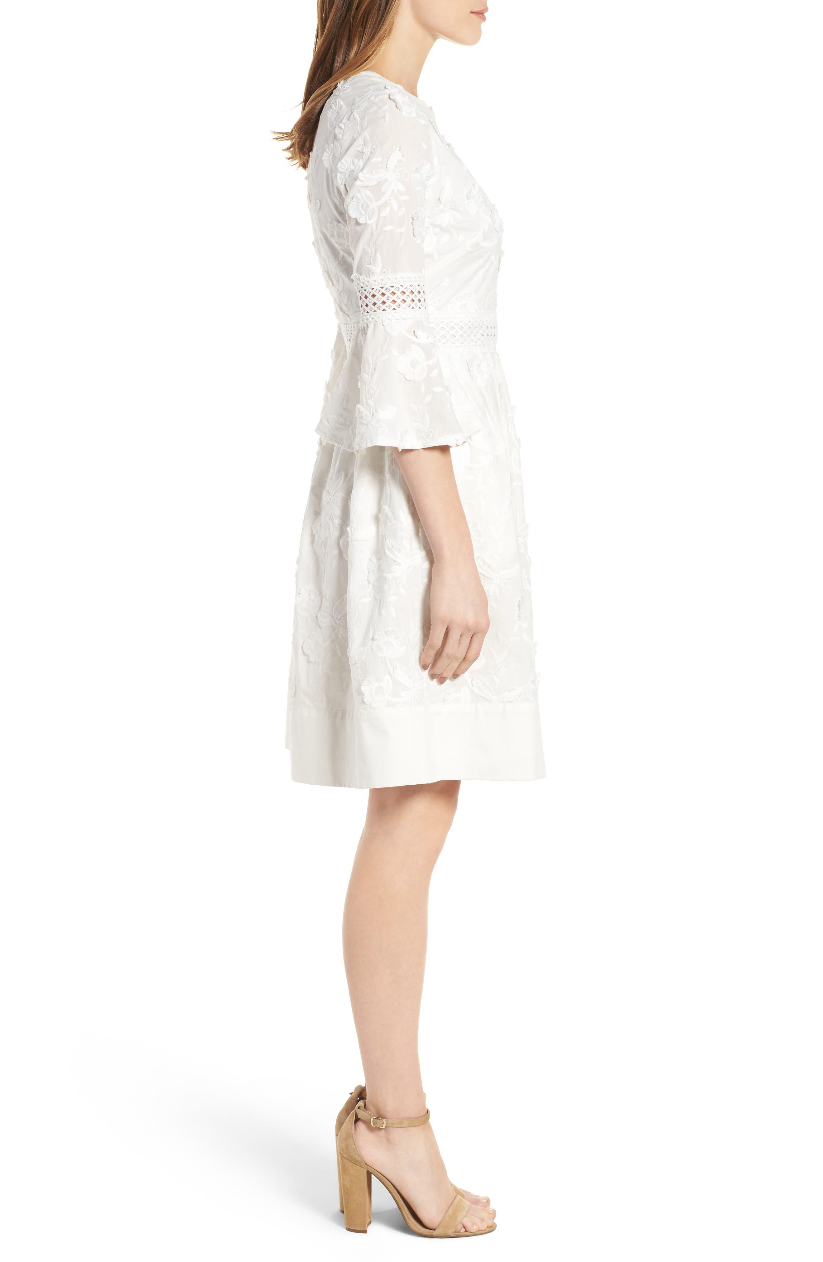 Alternate Image 4  - Eliza J Fit & Flare Dress (Regular & Petite)