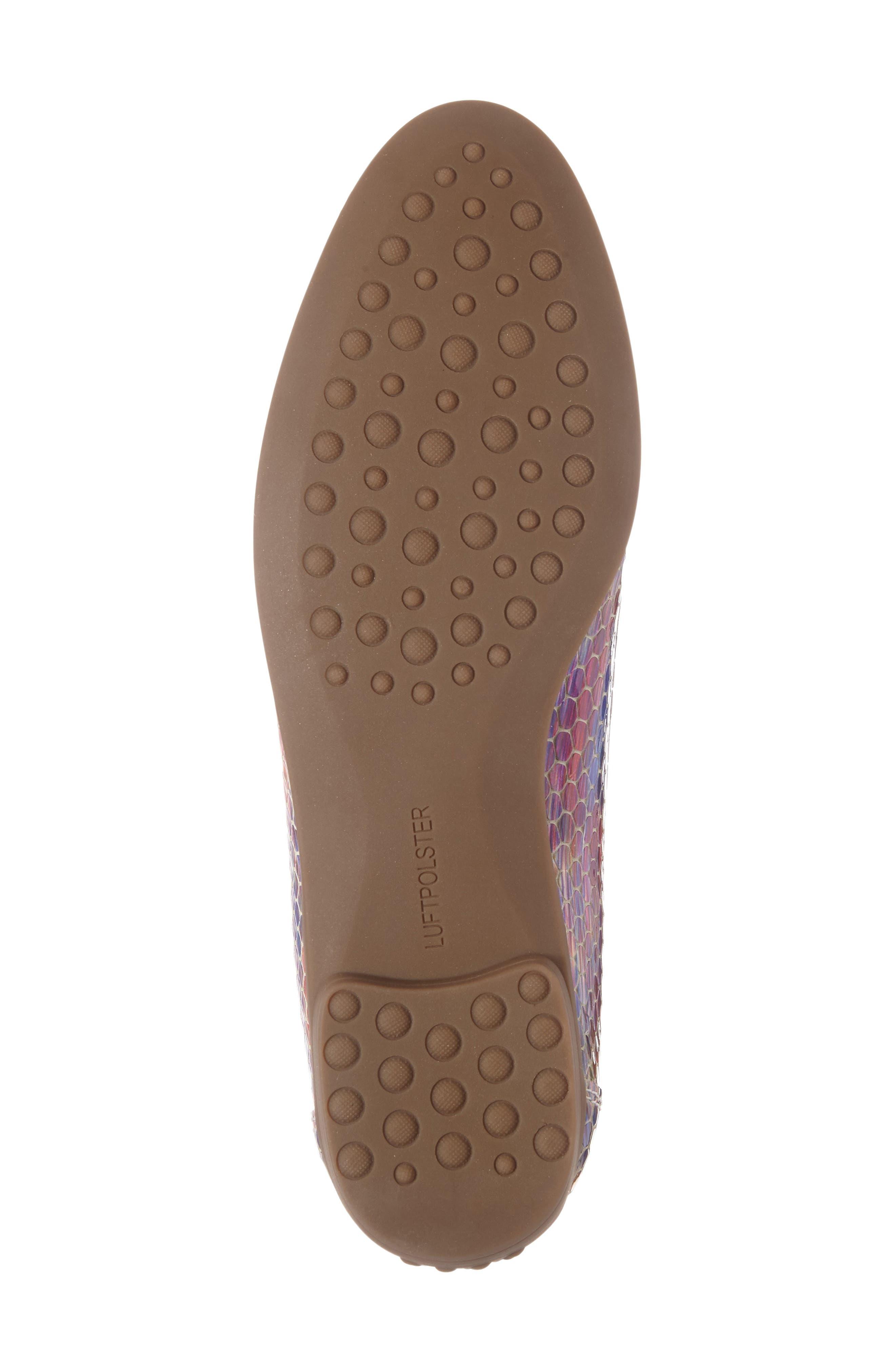 Barb Flat,                             Alternate thumbnail 6, color,                             Pink Multi Leather