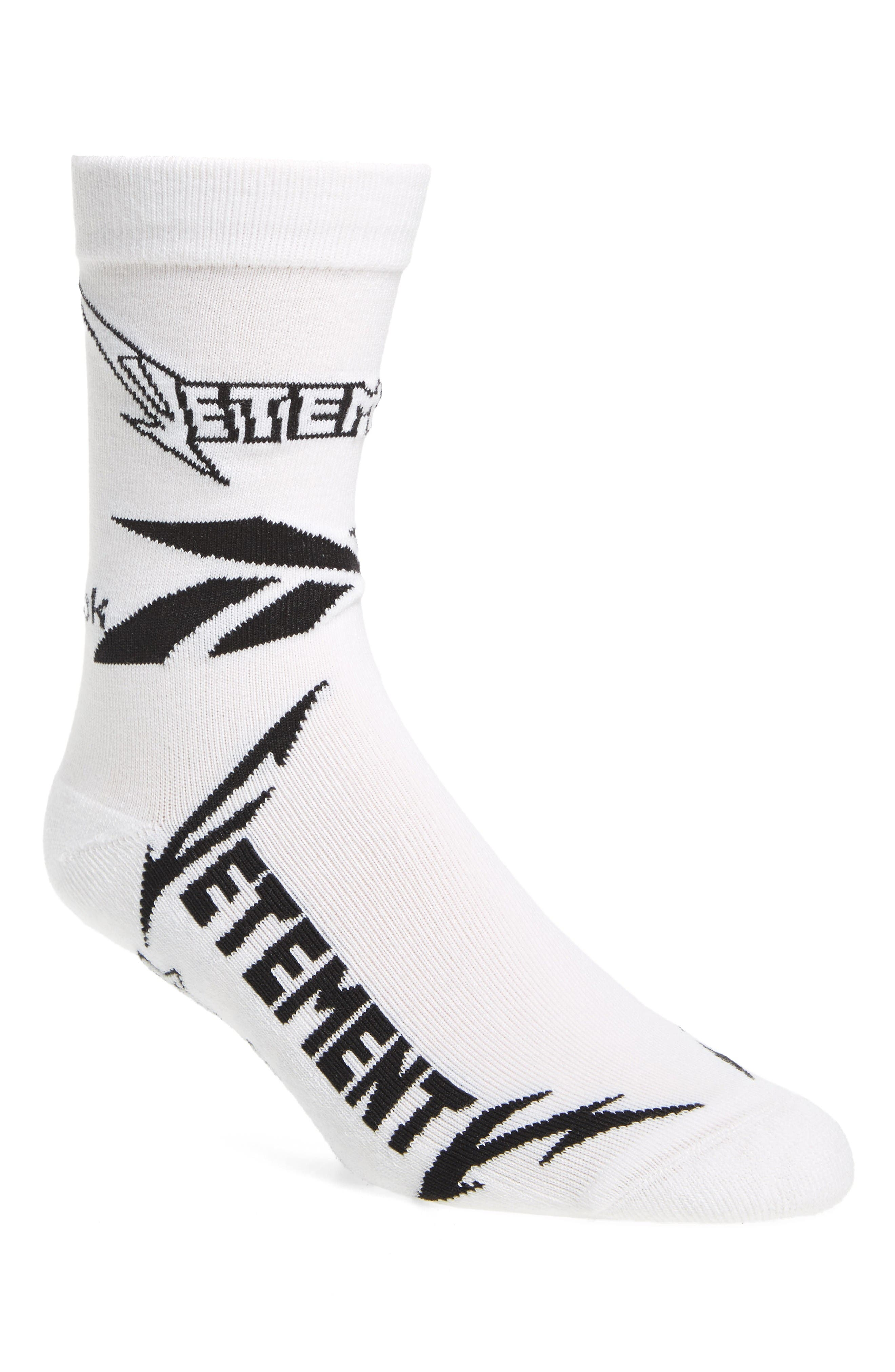 Metal Crew Socks,                             Main thumbnail 1, color,                             White