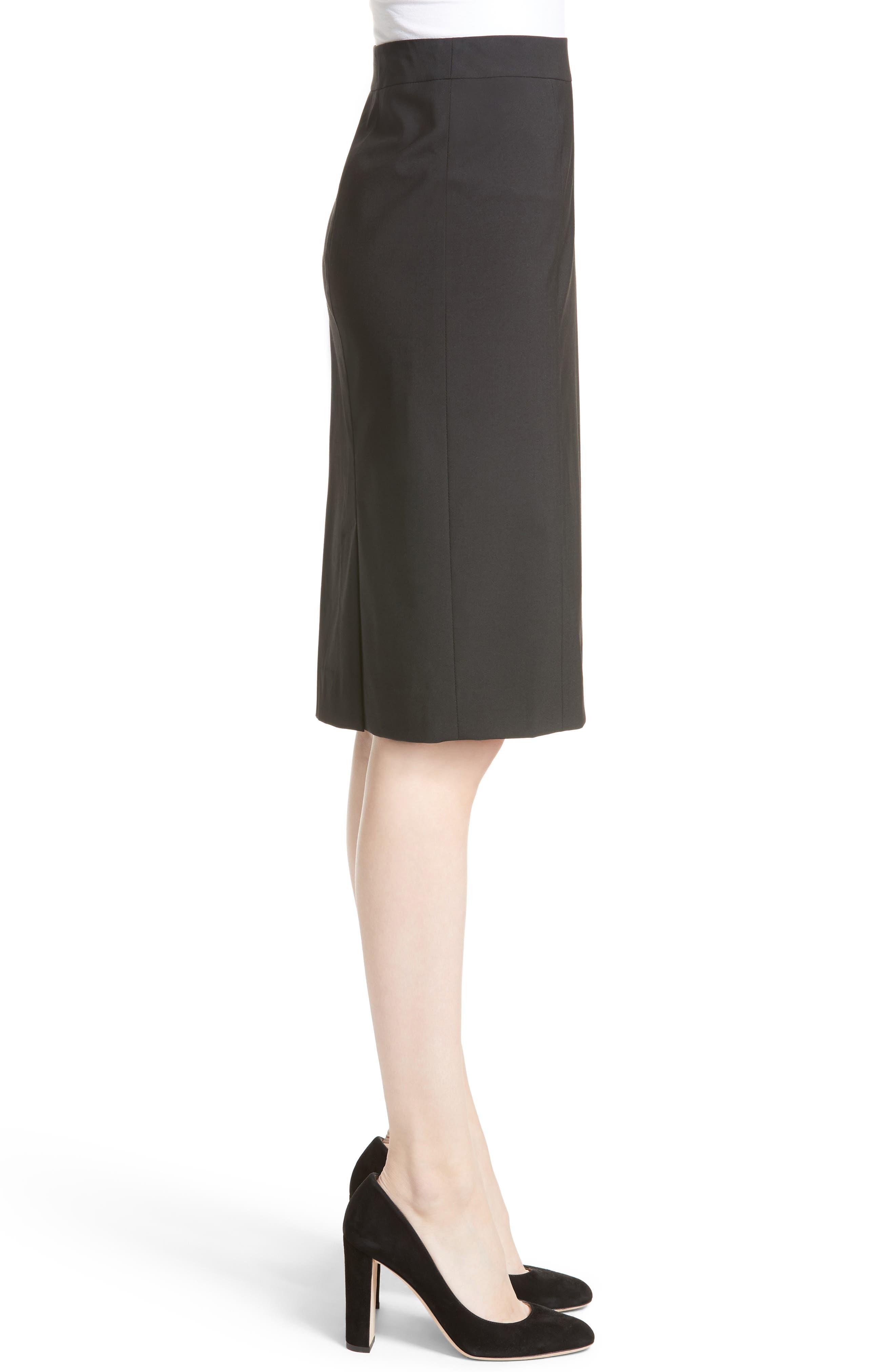 Alternate Image 5  - Lafayette 148 New York Stretch Wool Pencil Skirt