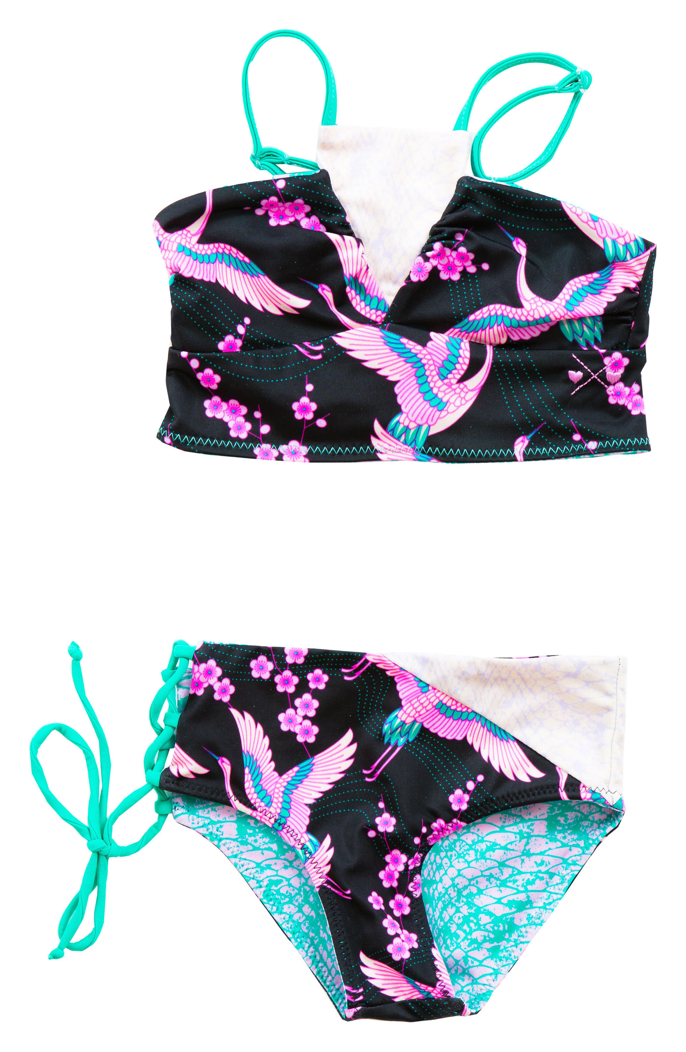 BOWIE X JAMES Bo & Arrow Reversible Two-Piece Swimsuit (Toddler Girls, Little Girls & Big Girls)