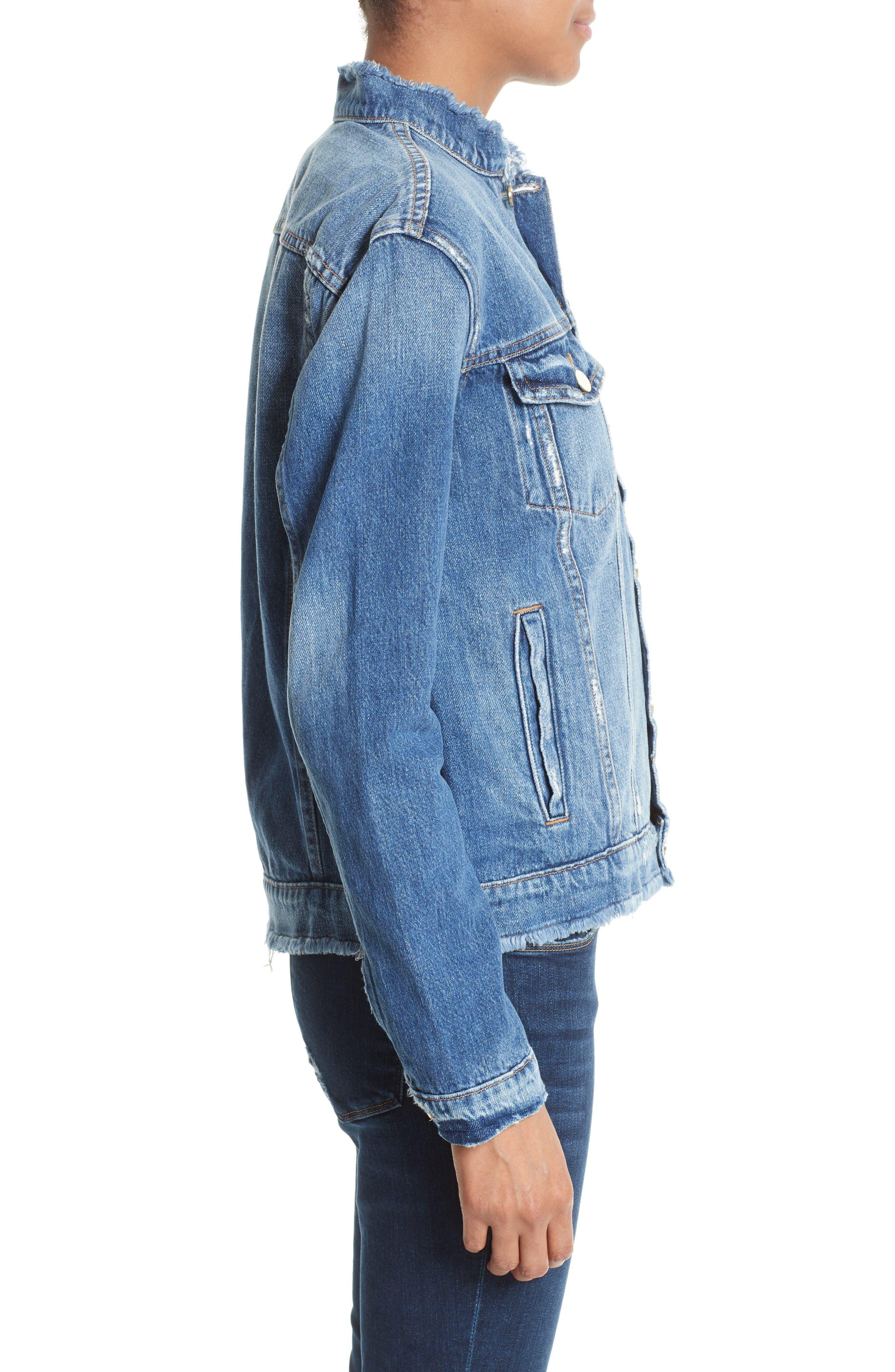 Alternate Image 3  - FRAME Le Fray Denim Jacket (Nordstrom Exclusive)