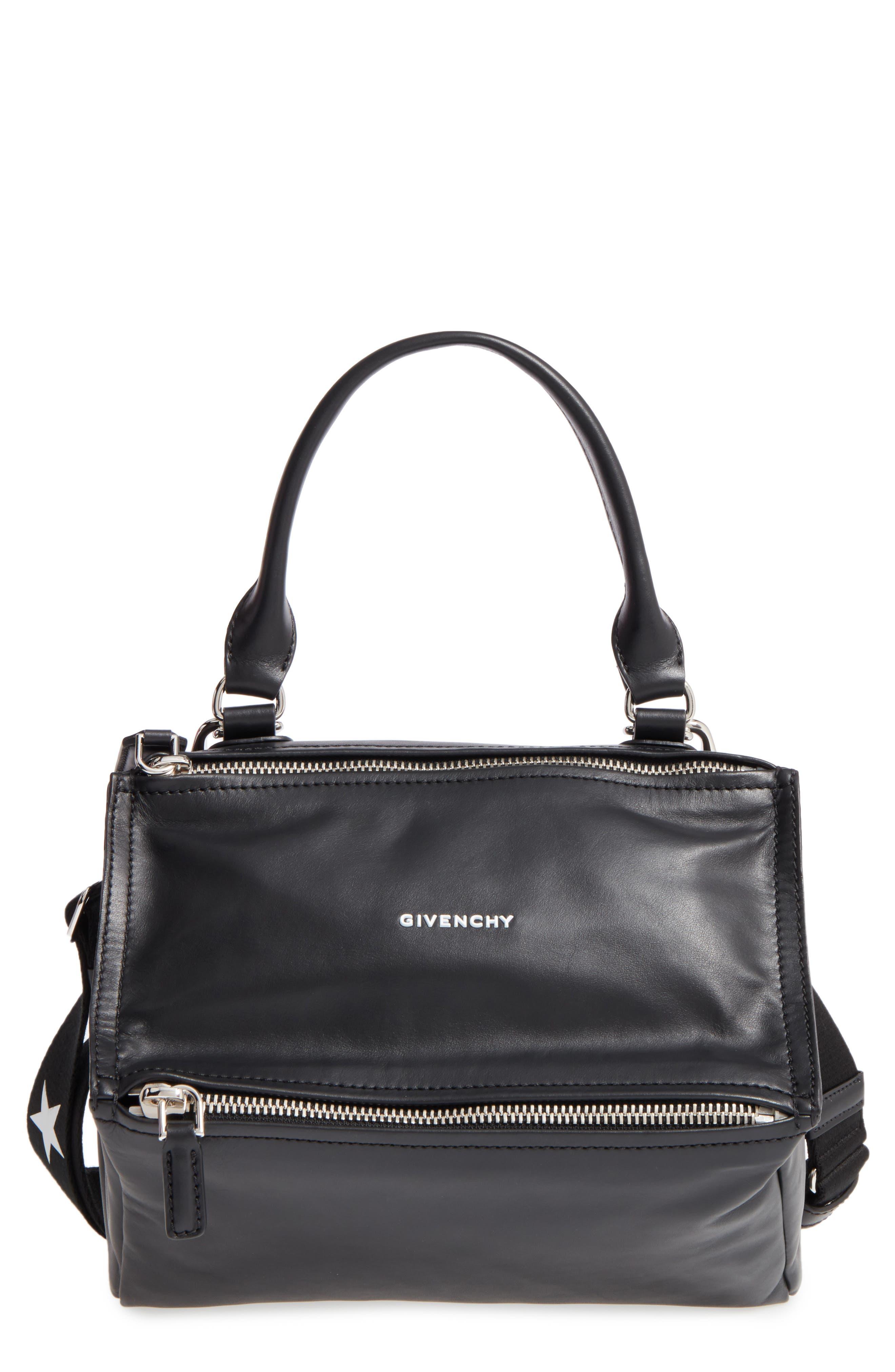 GIVENCHY Small Pandora - Logo Leather Satchel