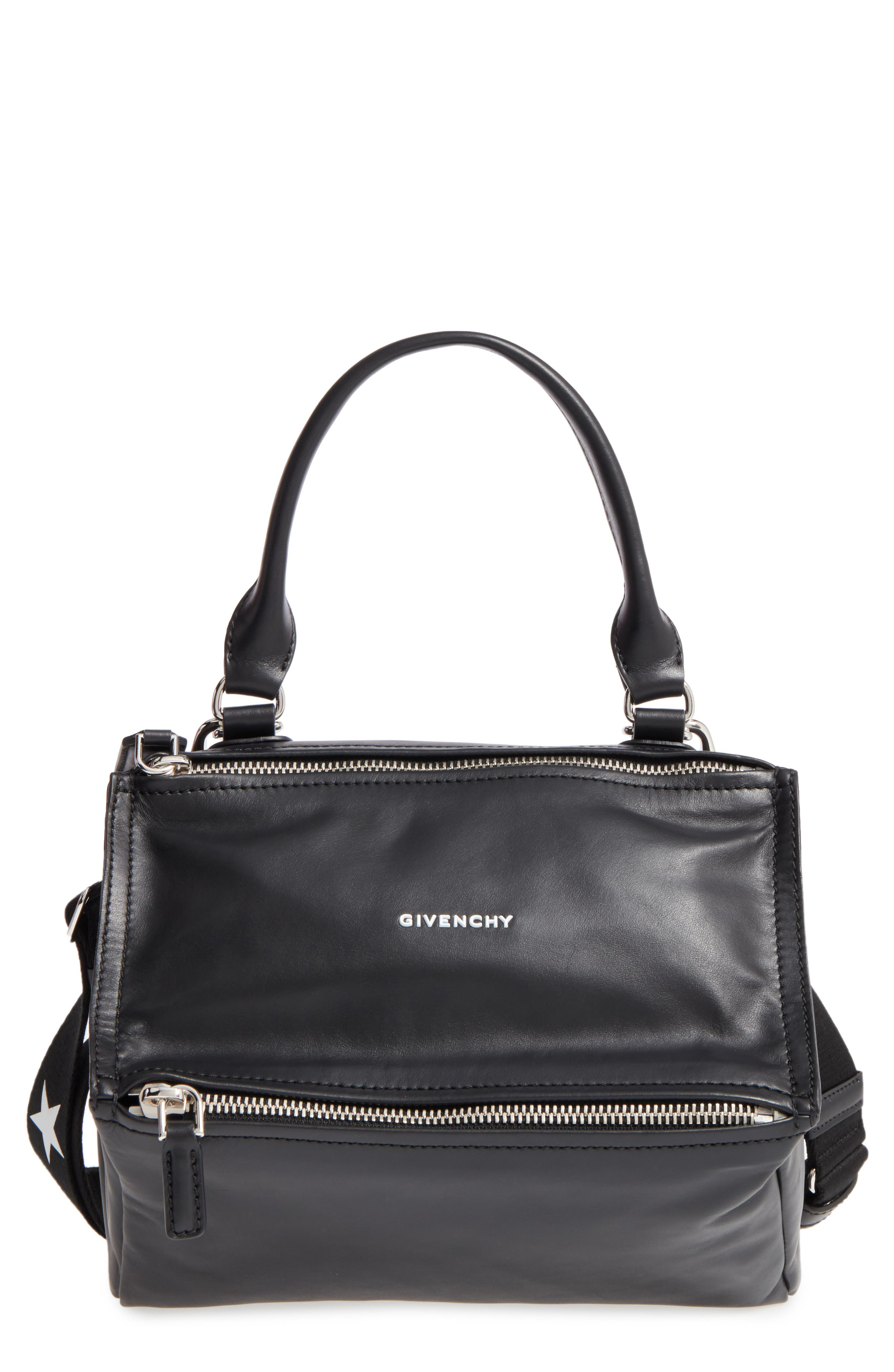 Main Image - Givenchy Small Pandora - Logo Leather Satchel