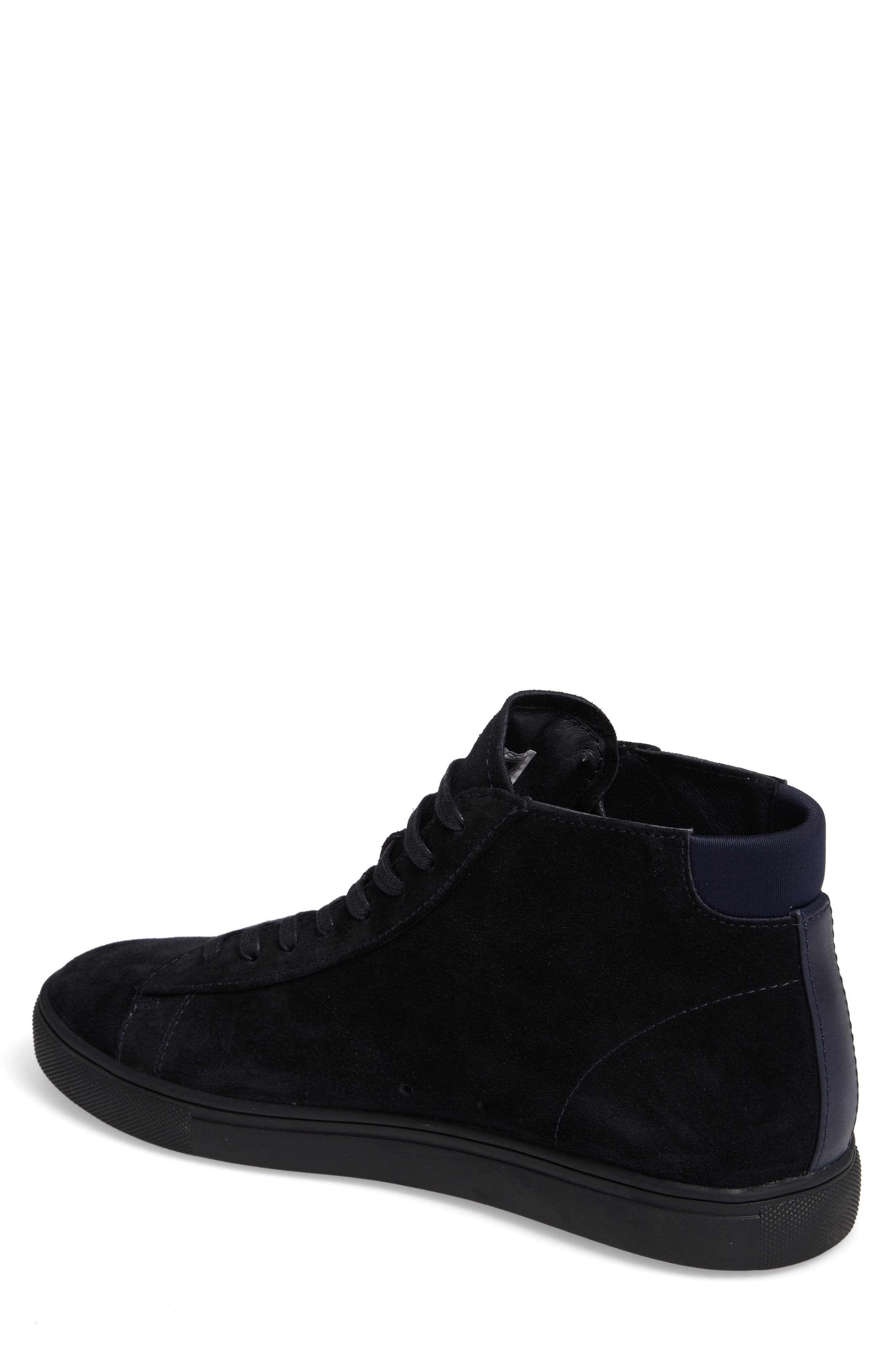 'Bradley Mid' Sneaker,                             Alternate thumbnail 2, color,                             Deep Navy Suede