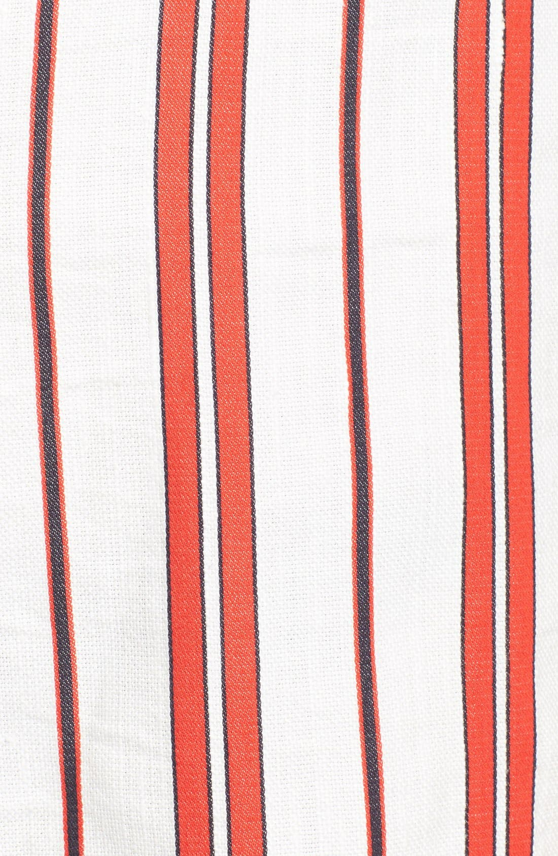 Alternate Image 5  - Creatures of the Wind 'Danae' Stripe Cotton Linen Shirtdress