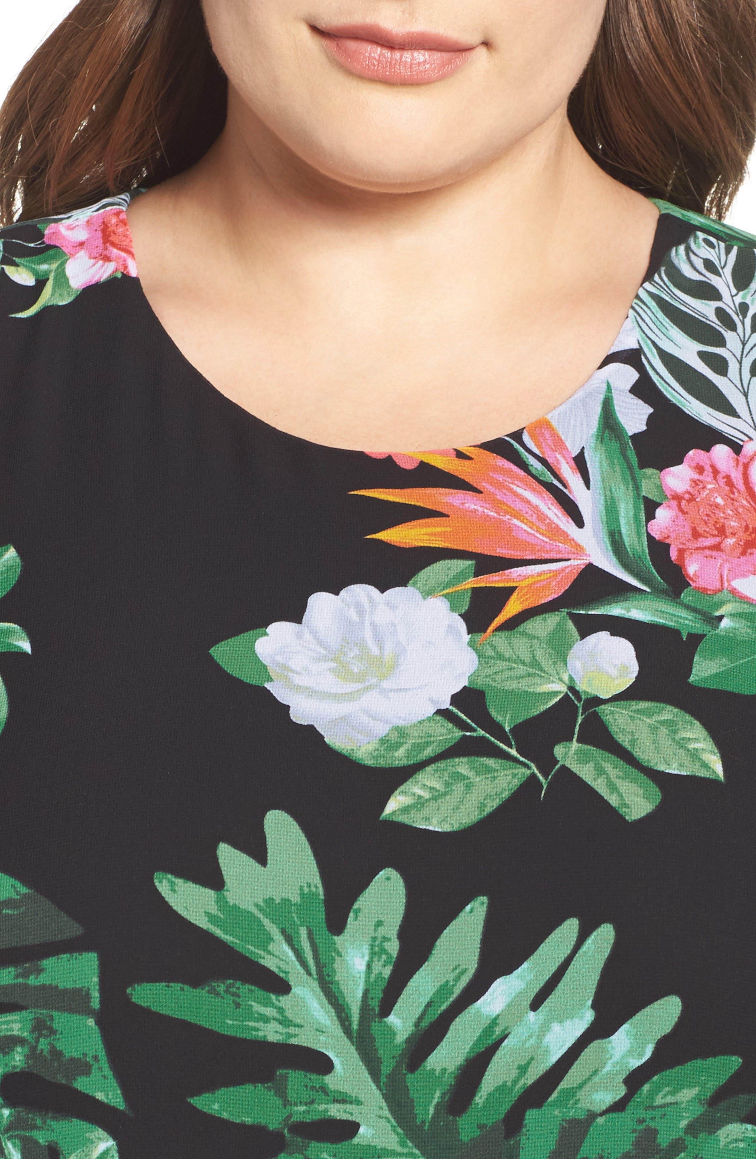 Alternate Image 5  - Vince Camuto Havana Tropical Maxi Dress (Plus Size)