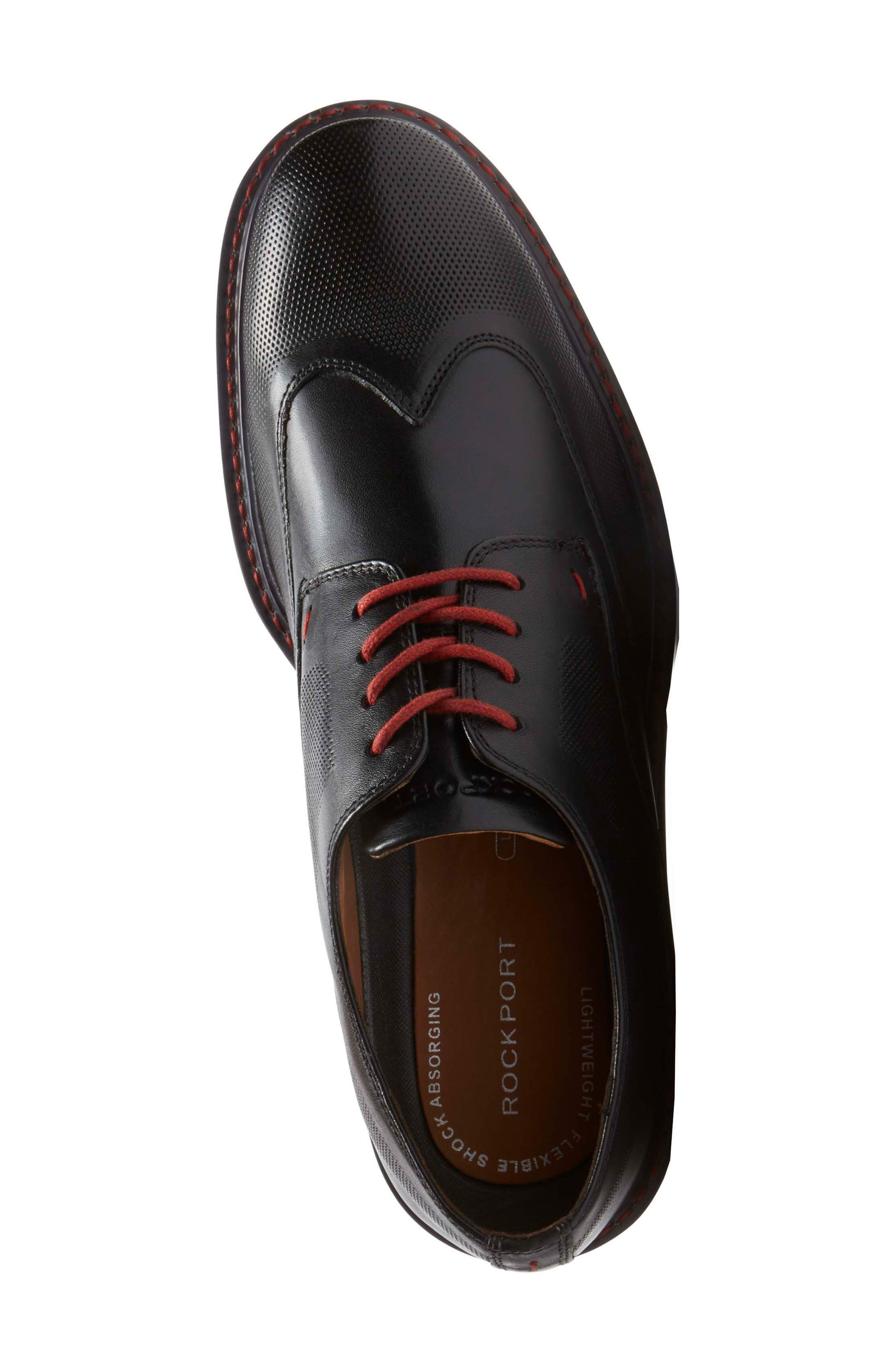 Jaxson Wingtip,                             Alternate thumbnail 4, color,                             Black Leather