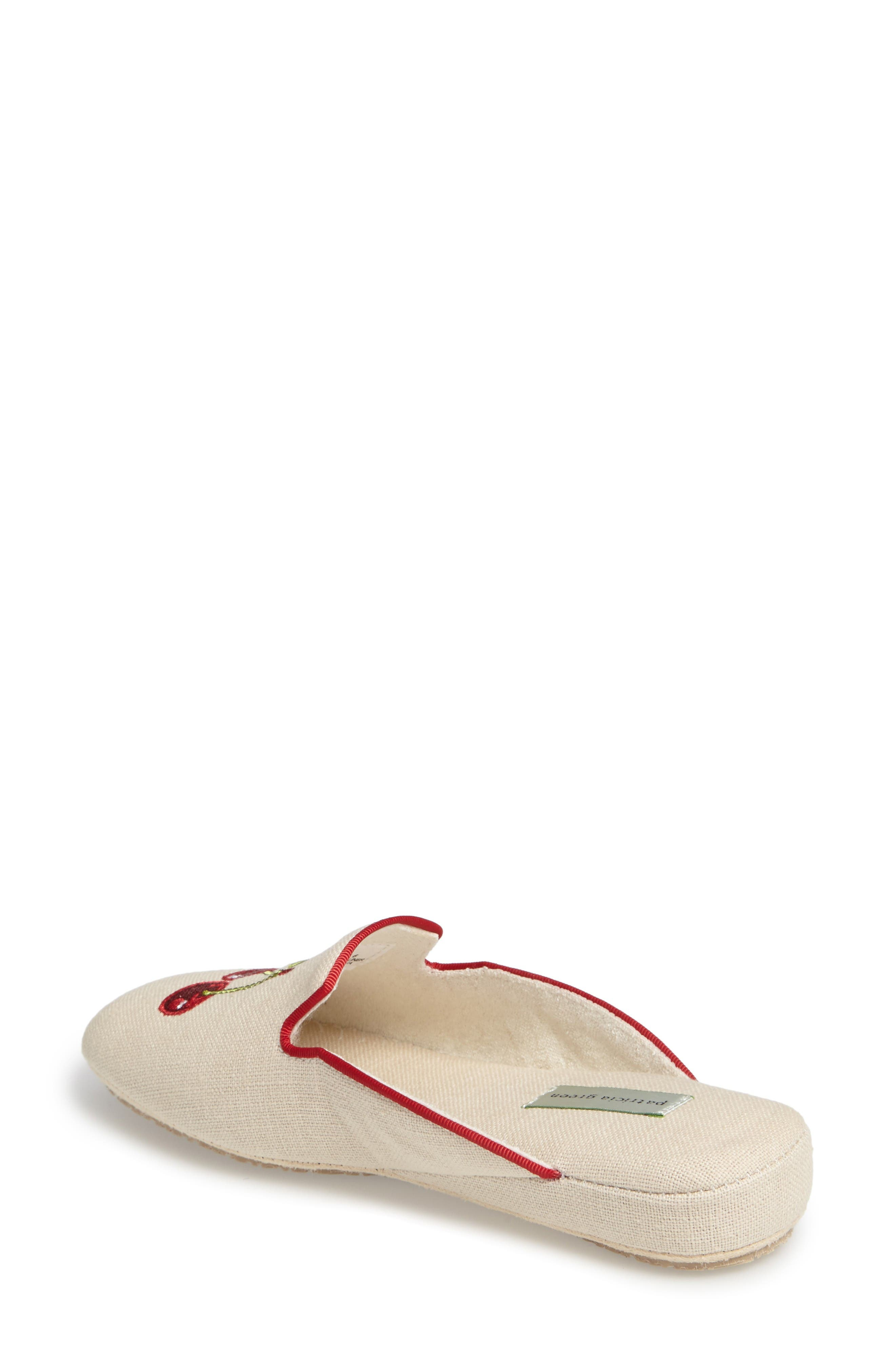 Cherries Slipper,                             Alternate thumbnail 2, color,                             Natural Fabric