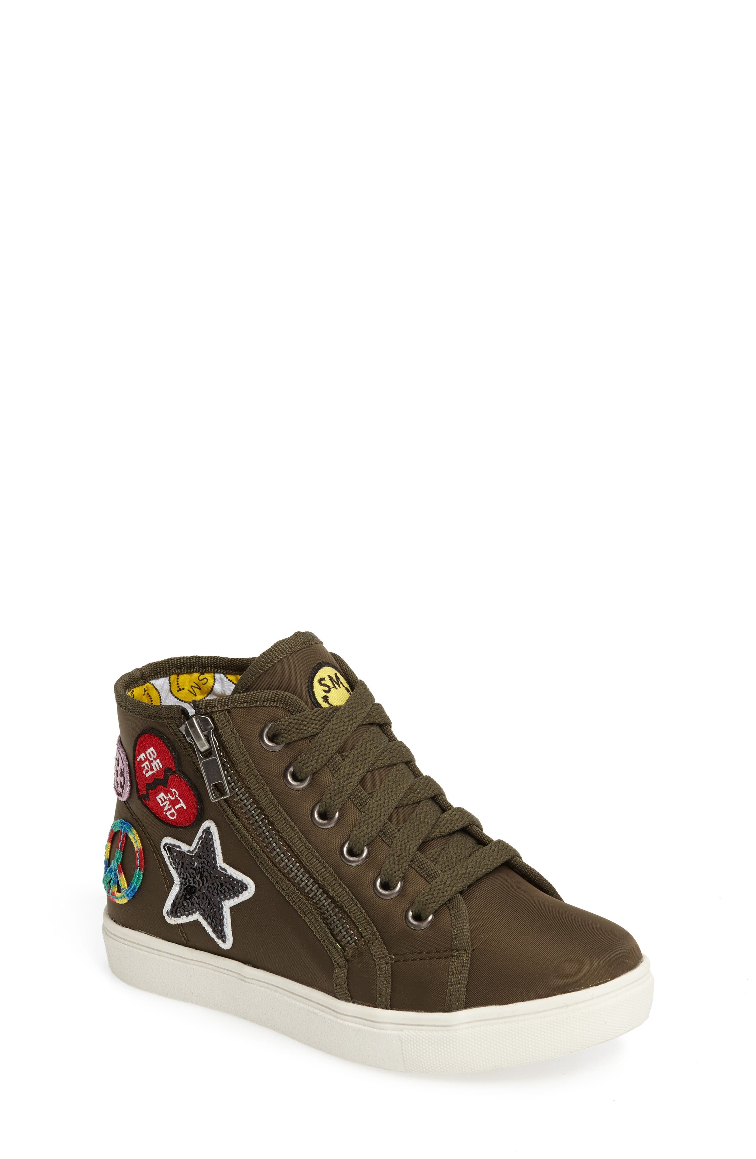 Alternate Image 1 Selected - Steve Madden Code High Top Zip Sneaker (Toddler, Little Kid & Big Kid)