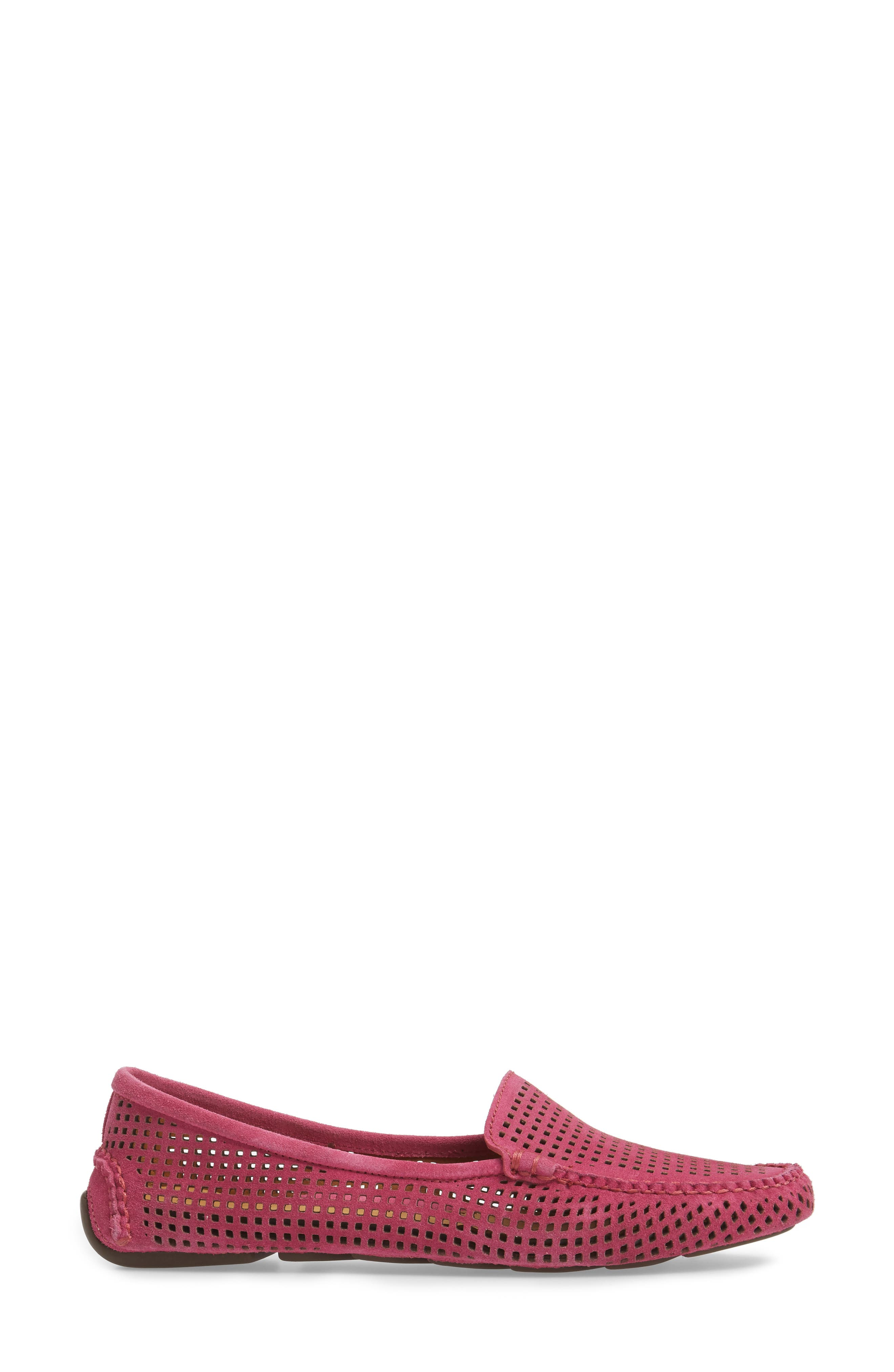 'Barrie' Flat,                             Alternate thumbnail 3, color,                             Hot Pink Suede