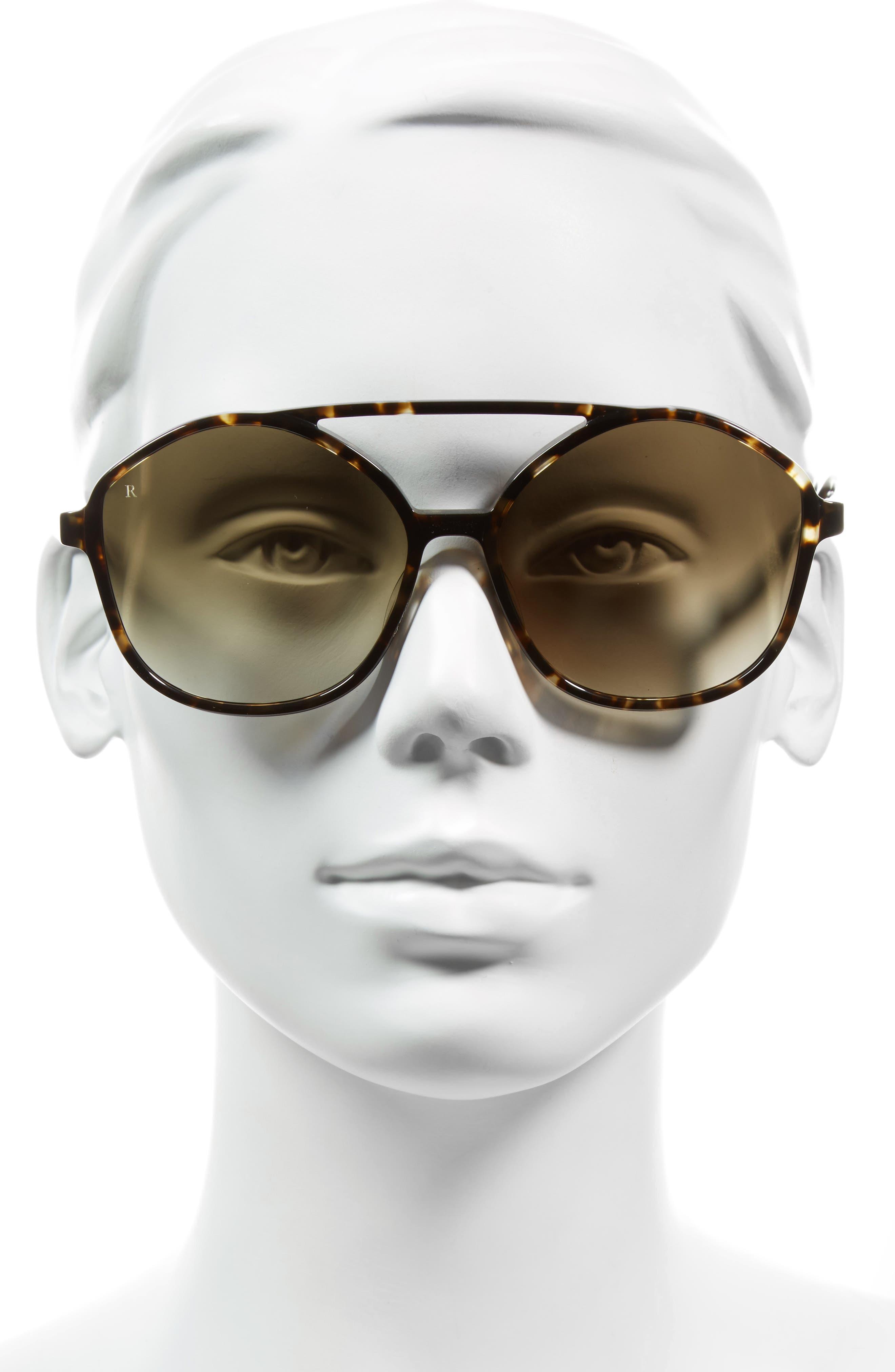 Torrey 58mm Aviator Sunglasses,                             Alternate thumbnail 2, color,                             Brindle Tortoise