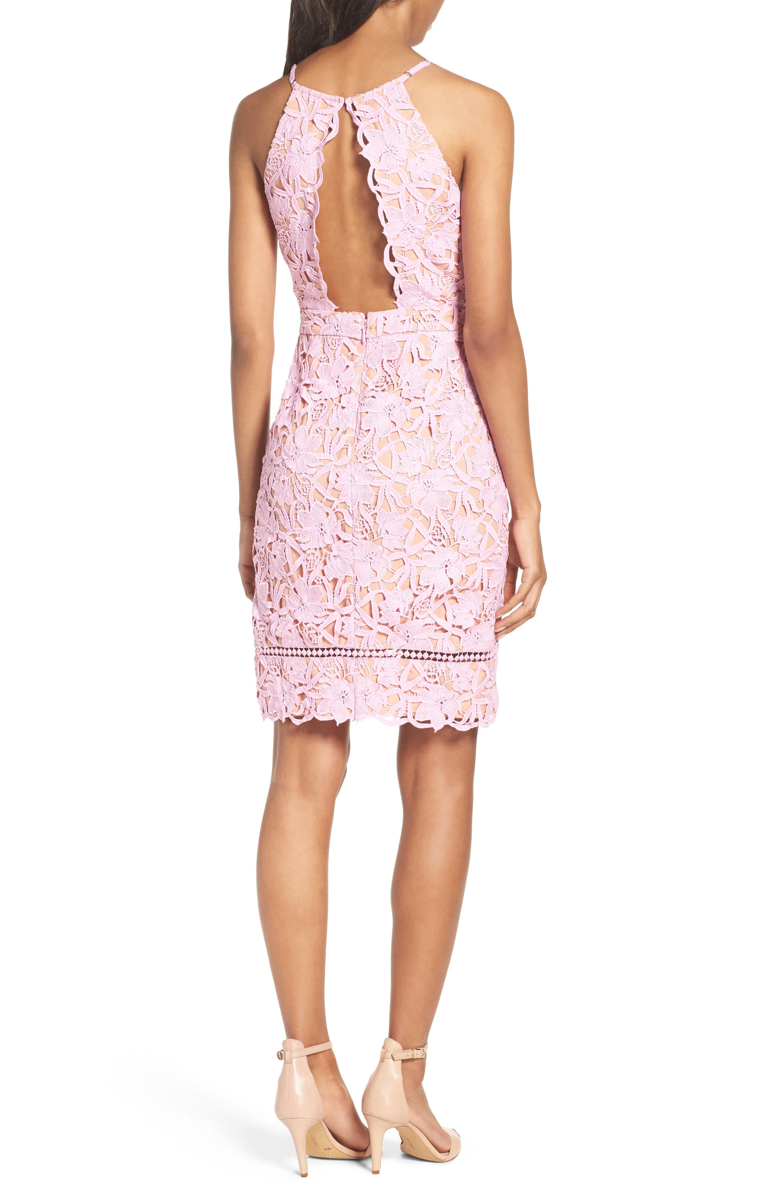 Alternate Image 2  - Adelyn Rae Lace Sheath Dress