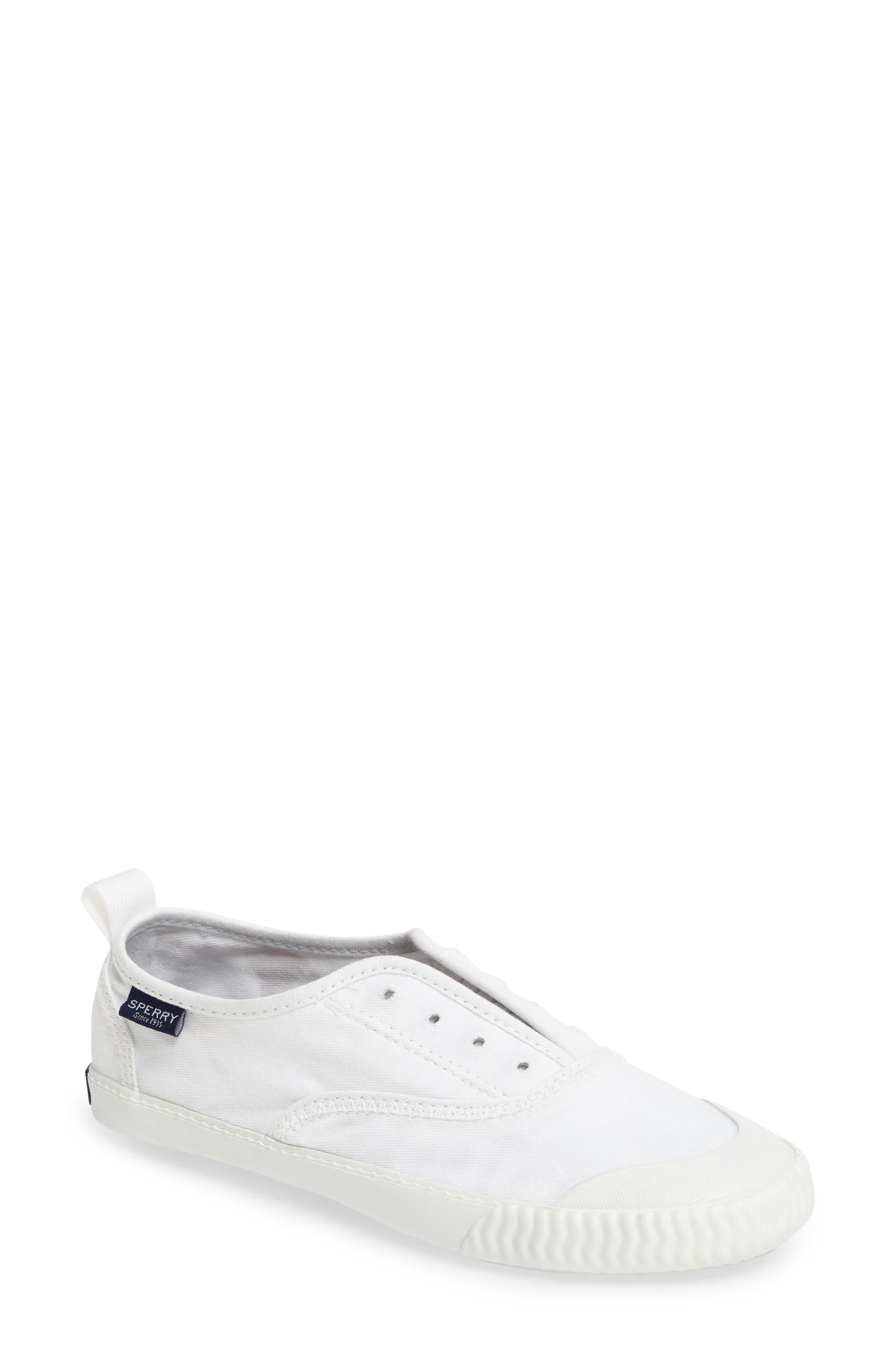 Sayel Slip-On Sneaker,                             Main thumbnail 1, color,                             White Fabric