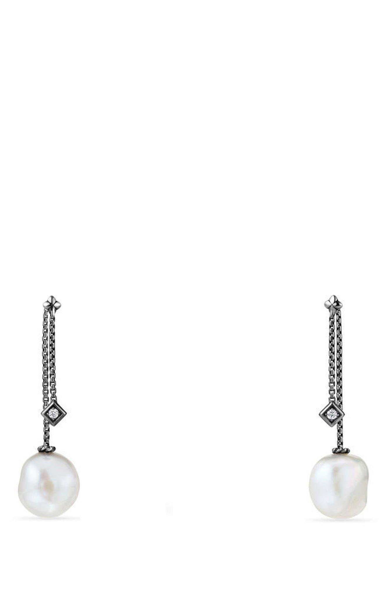 Alternate Image 1 Selected - David Yurman Solari Pearl & Diamond Drop Earrings