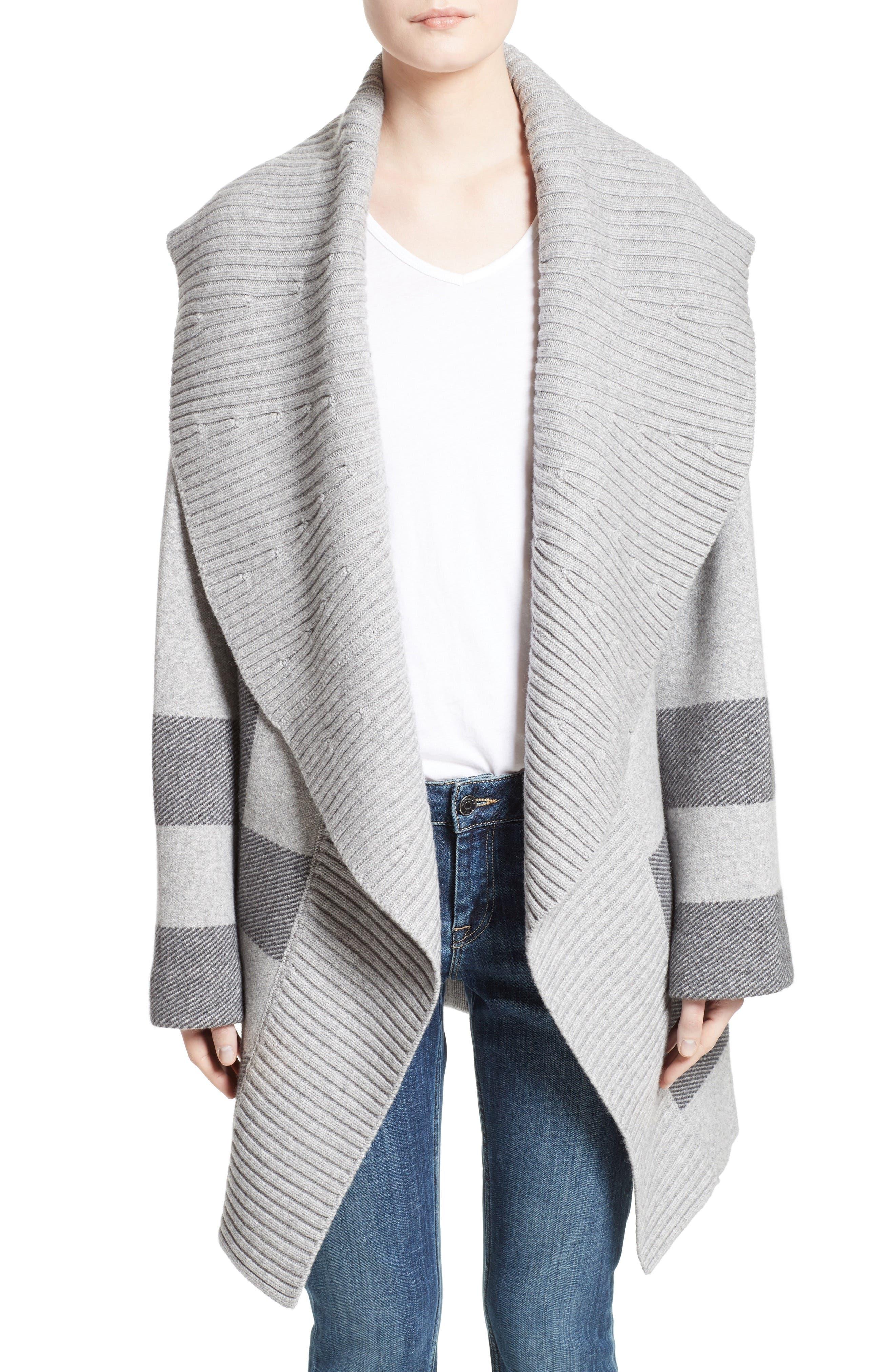 Gorlan Oversize Open Cardigan,                         Main,                         color, Pale Grey Melange