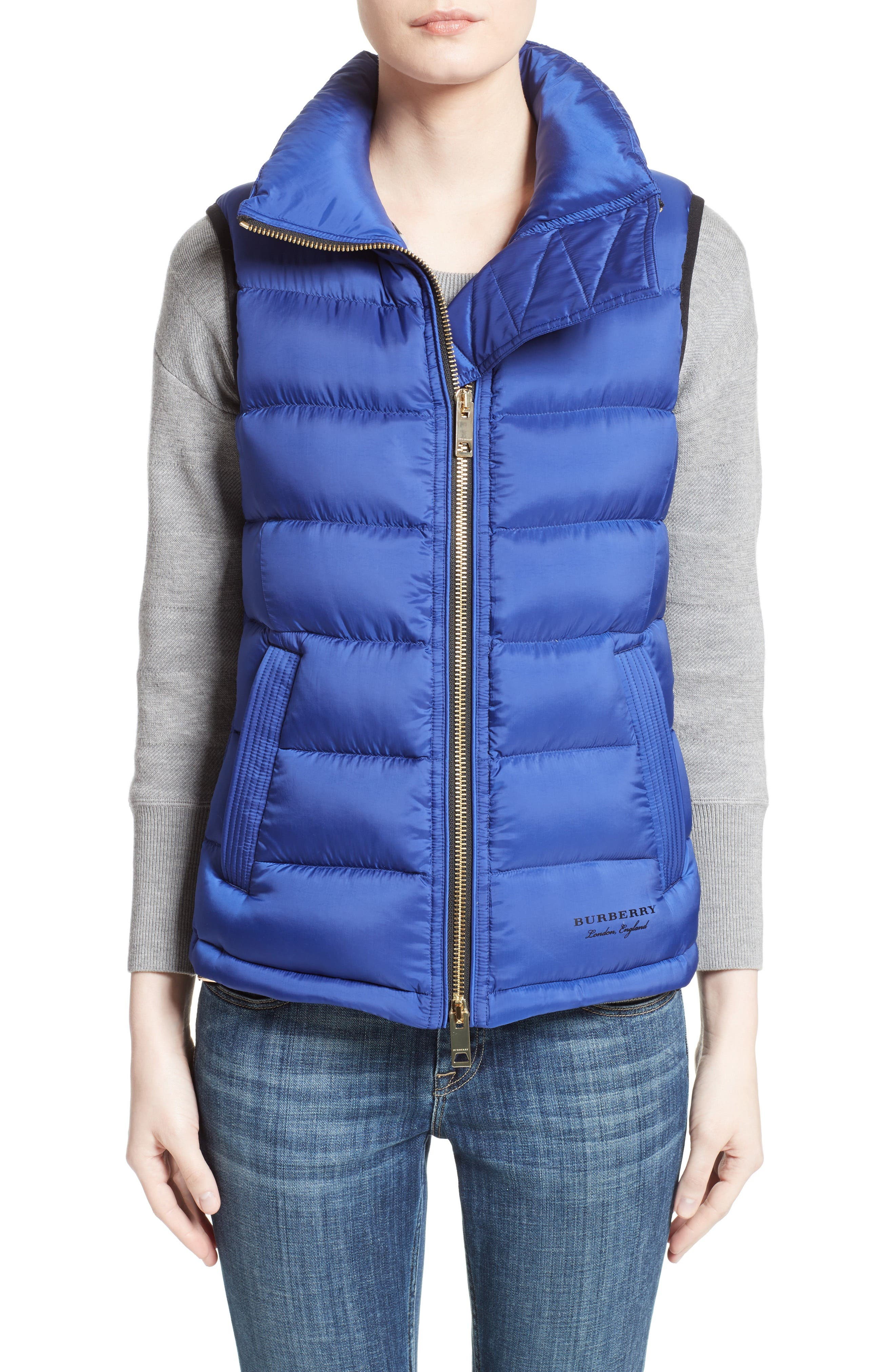 Main Image - Burberry Bredon Quilted Puffer Vest