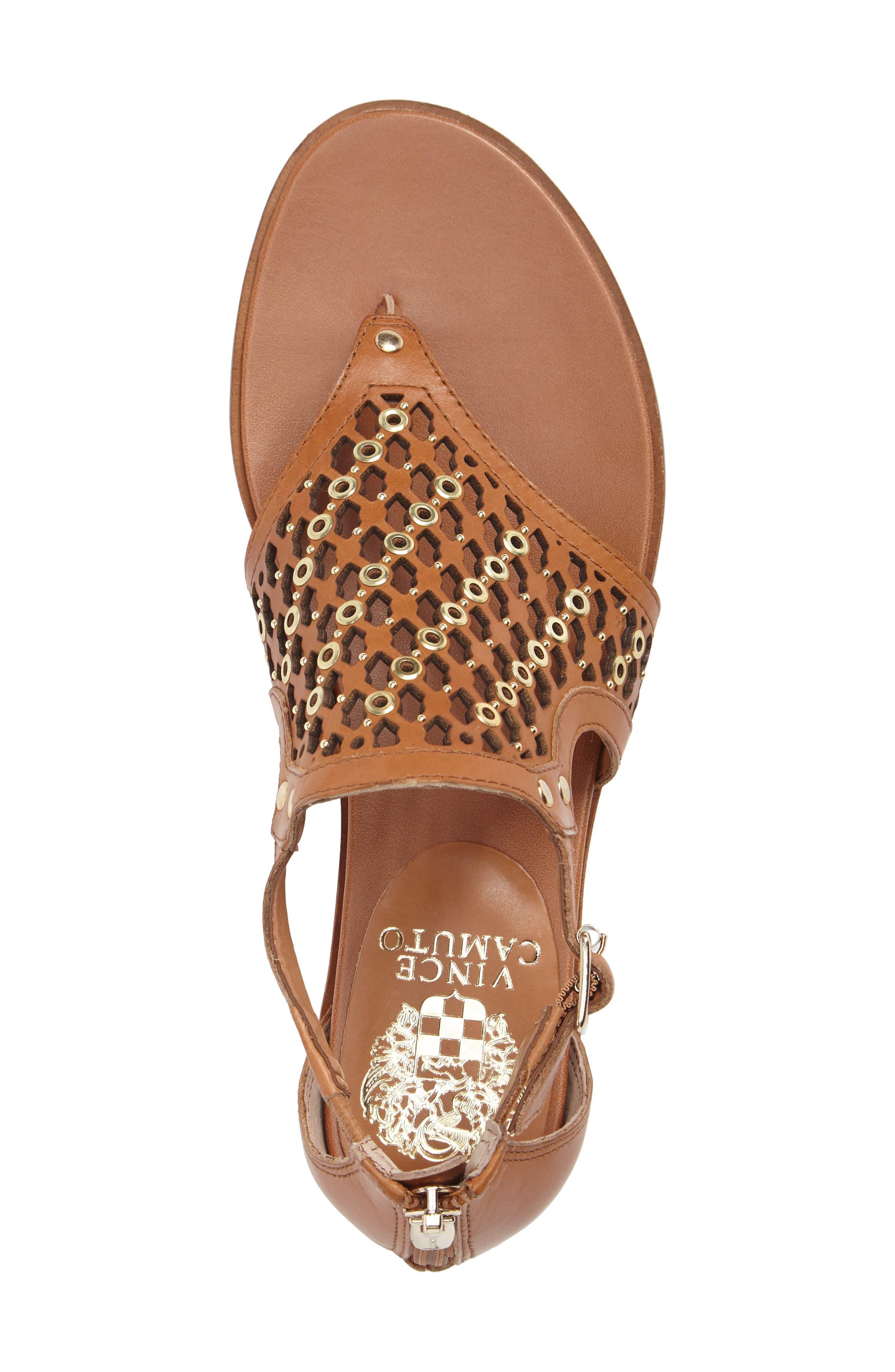 Sitara Sandal,                             Alternate thumbnail 5, color,                             Peanut Leather