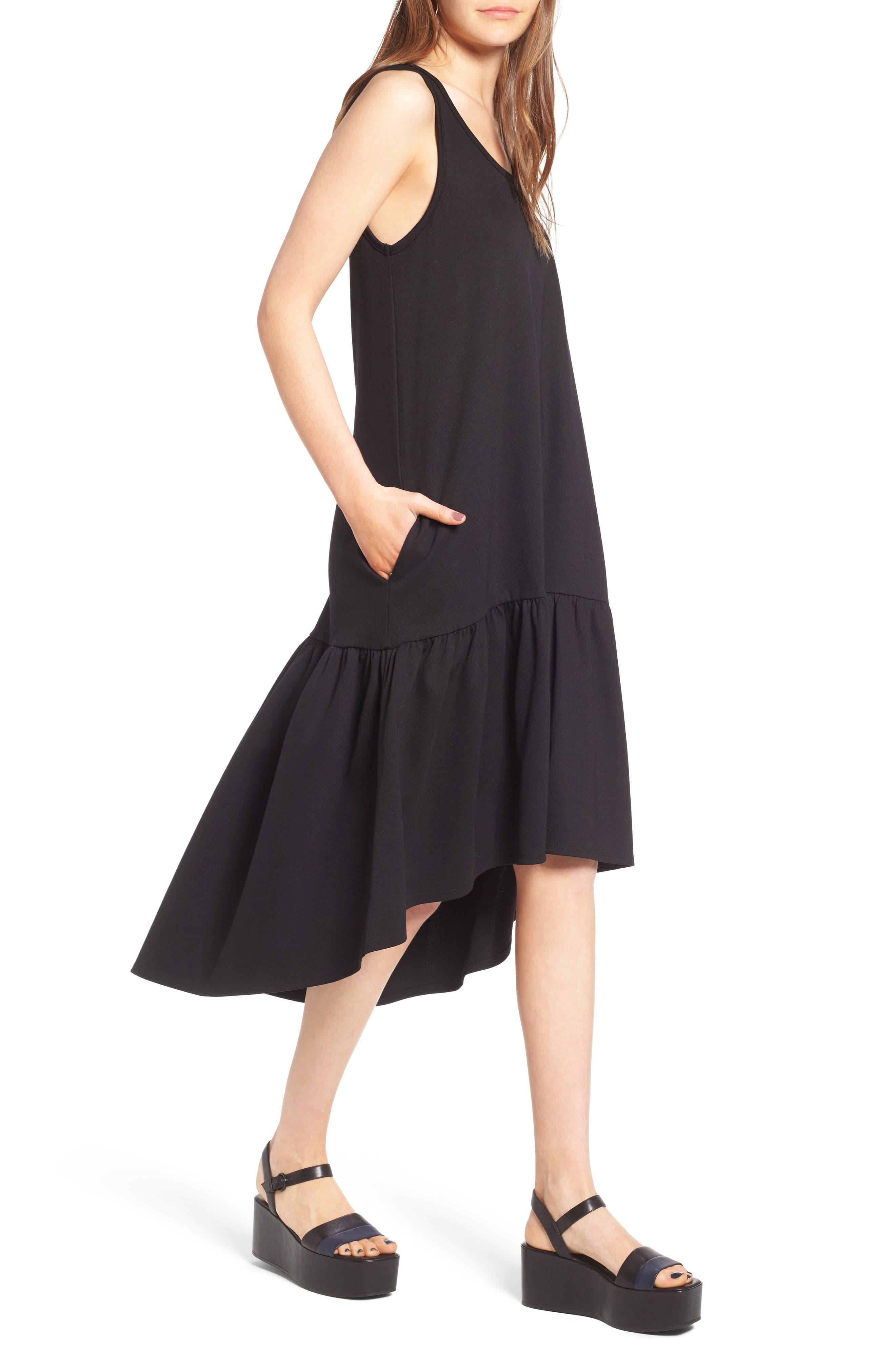 Alternate Image 4  - Leith Flounce Midi Dress