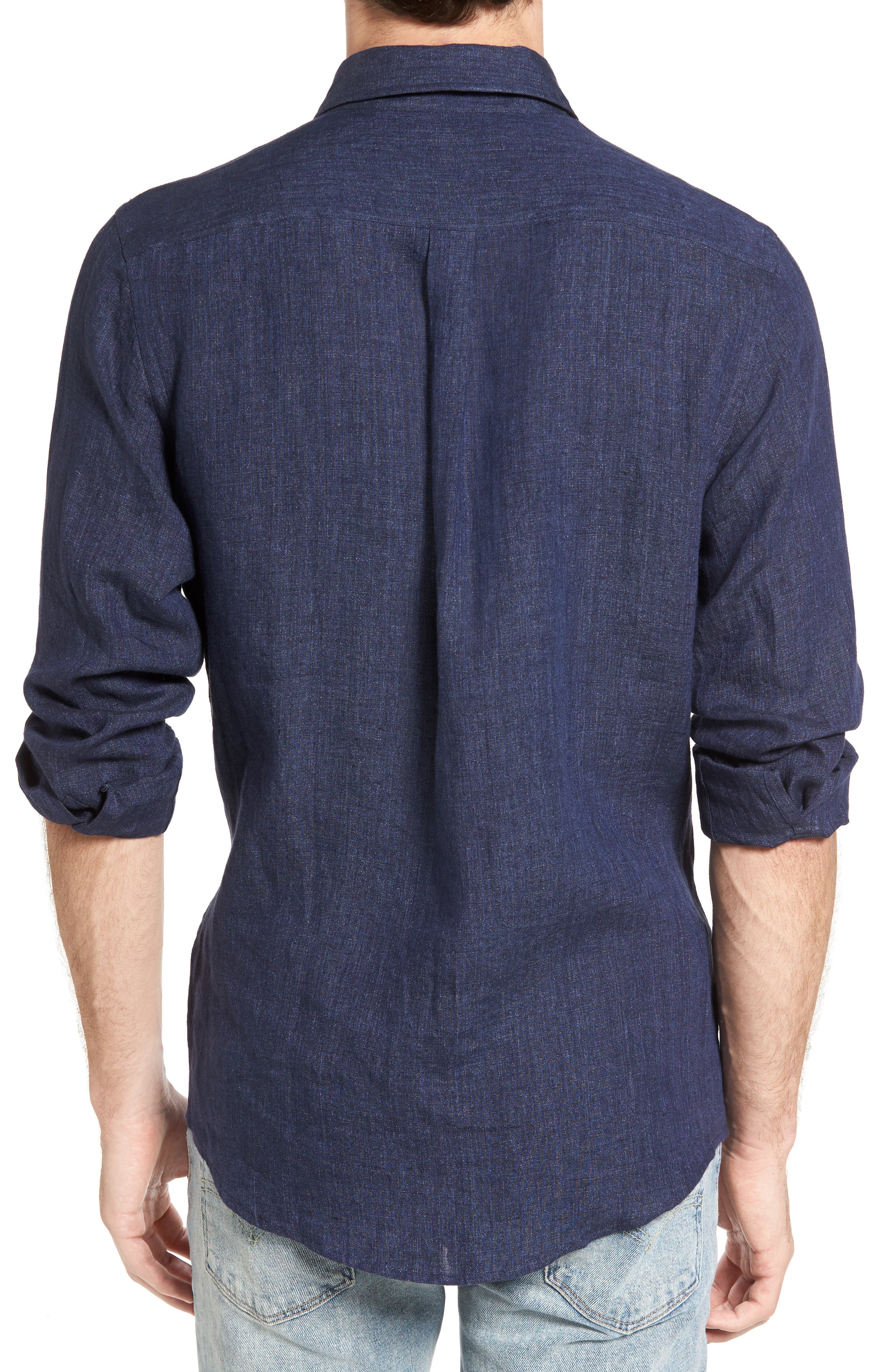Alternate Image 2  - Rodd & Gunn Mount Bruce Sports Fit Linen Sport Shirt