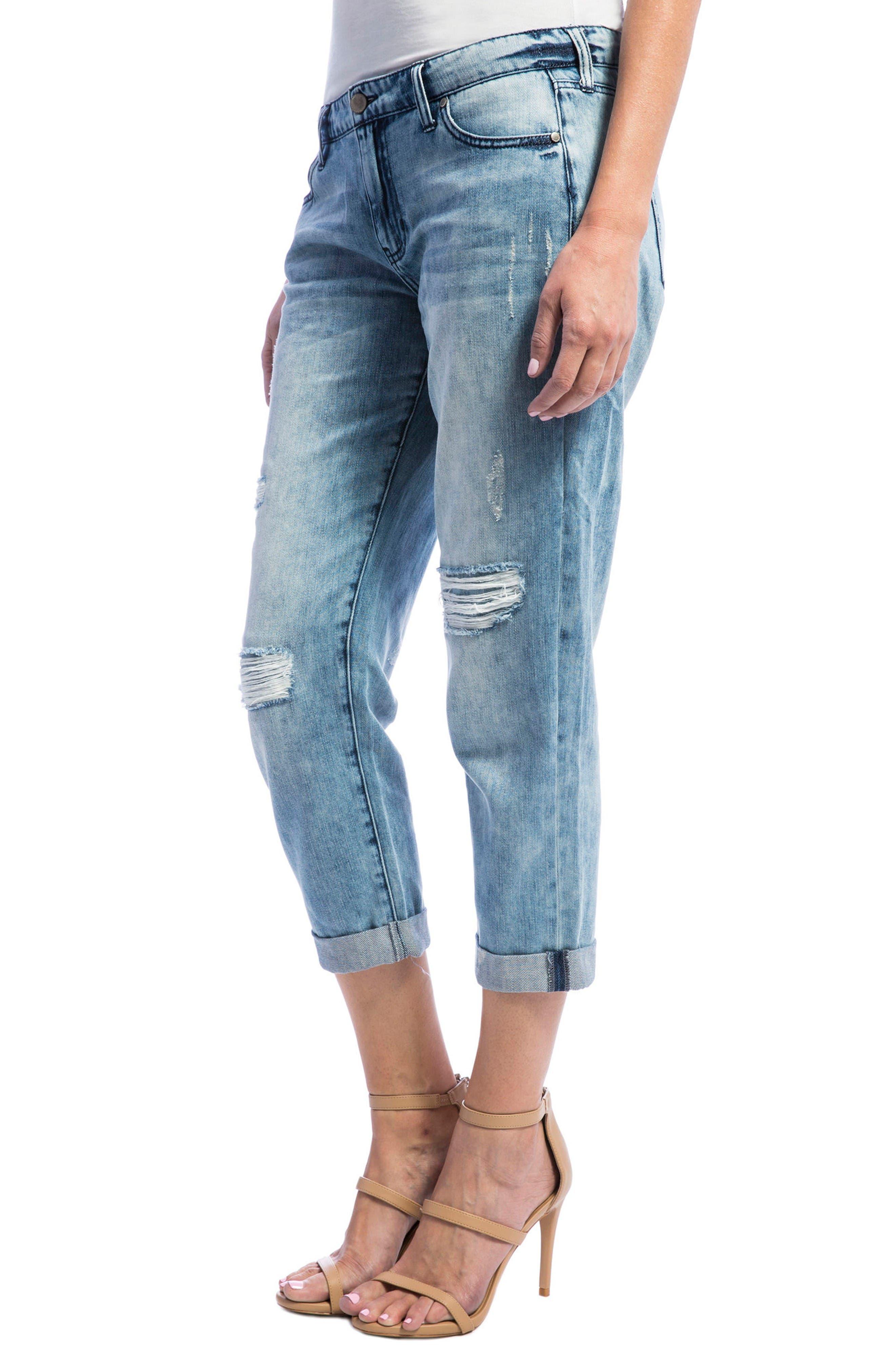 Alternate Image 4  - Liverpool Jeans Company Cameron Crop Boyfriend Jeans
