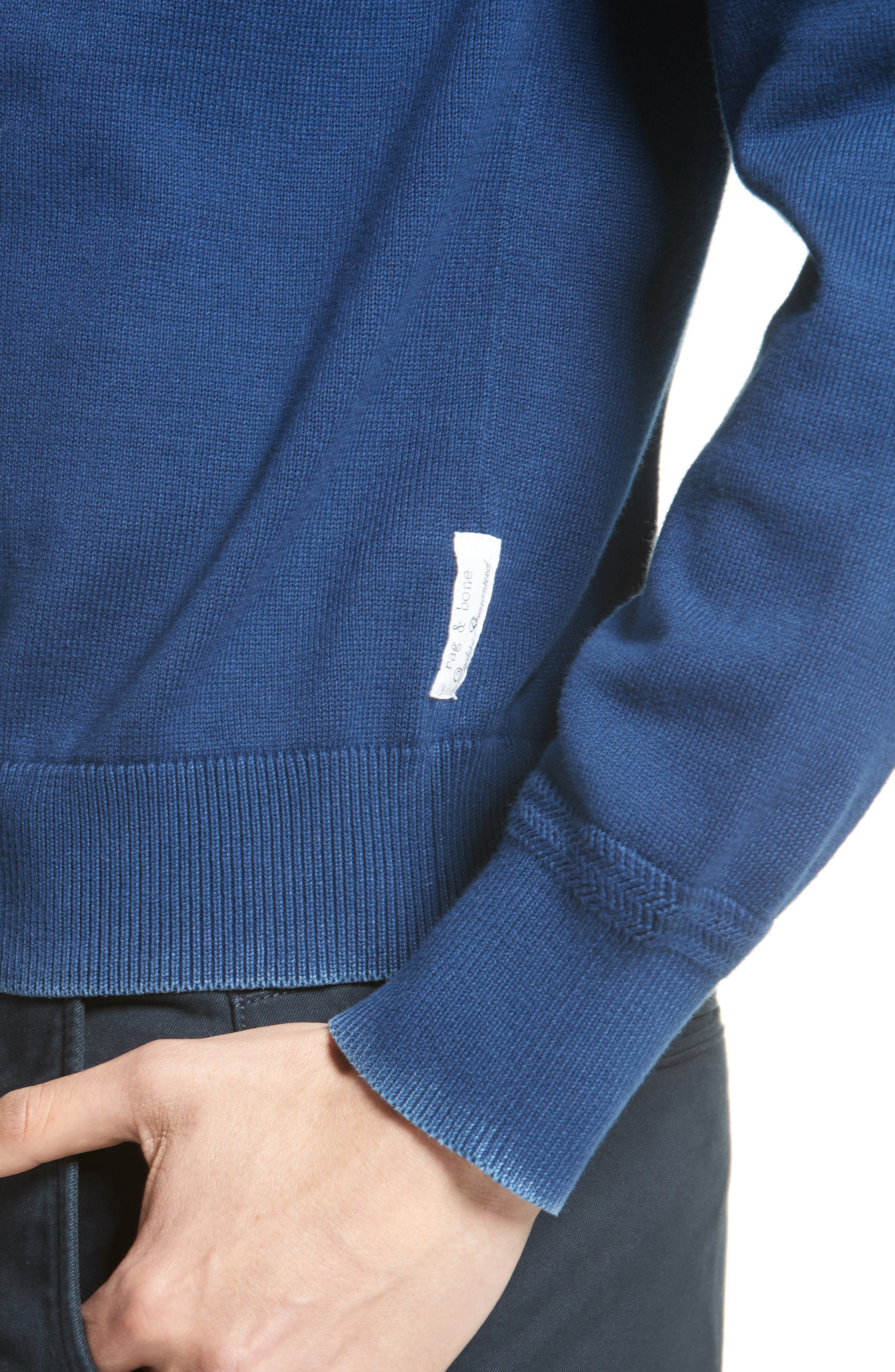 Damon Knit Hoodie,                             Alternate thumbnail 4, color,                             Navy