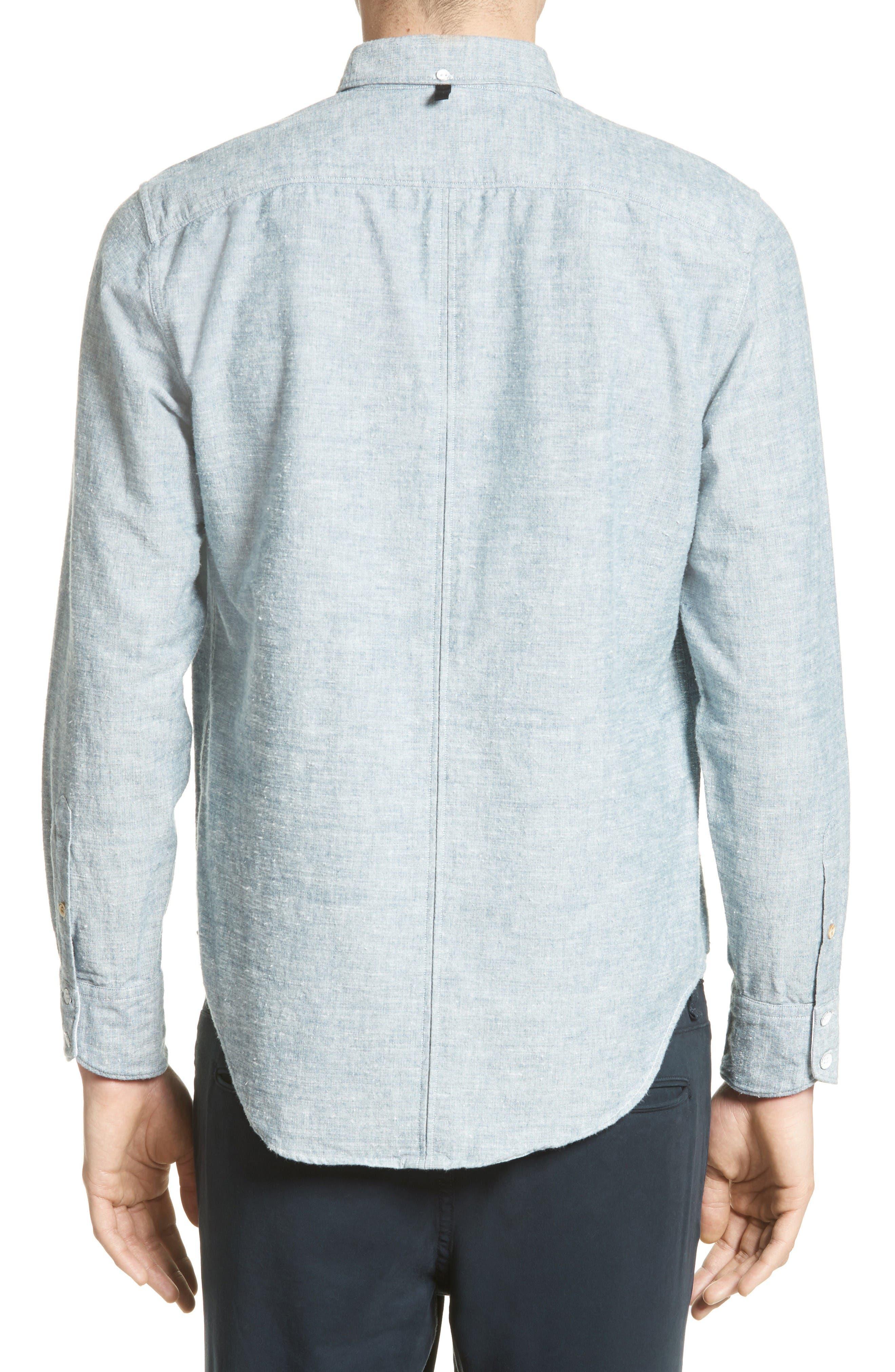 Alternate Image 2  - rag & bone Tomlin Cotton Sport Shirt