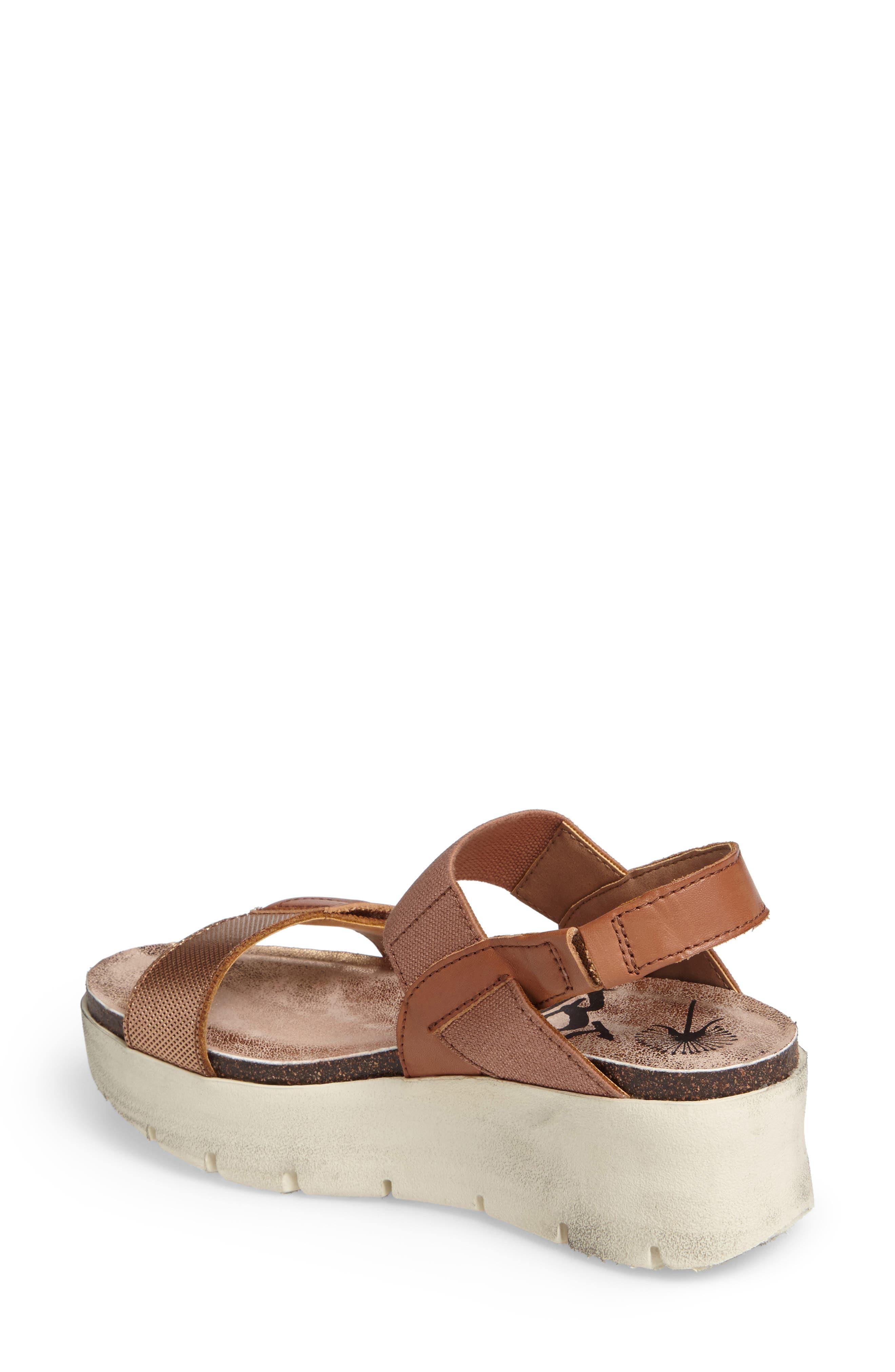 Nova Platform Sandal,                             Alternate thumbnail 2, color,                             Copper Leather