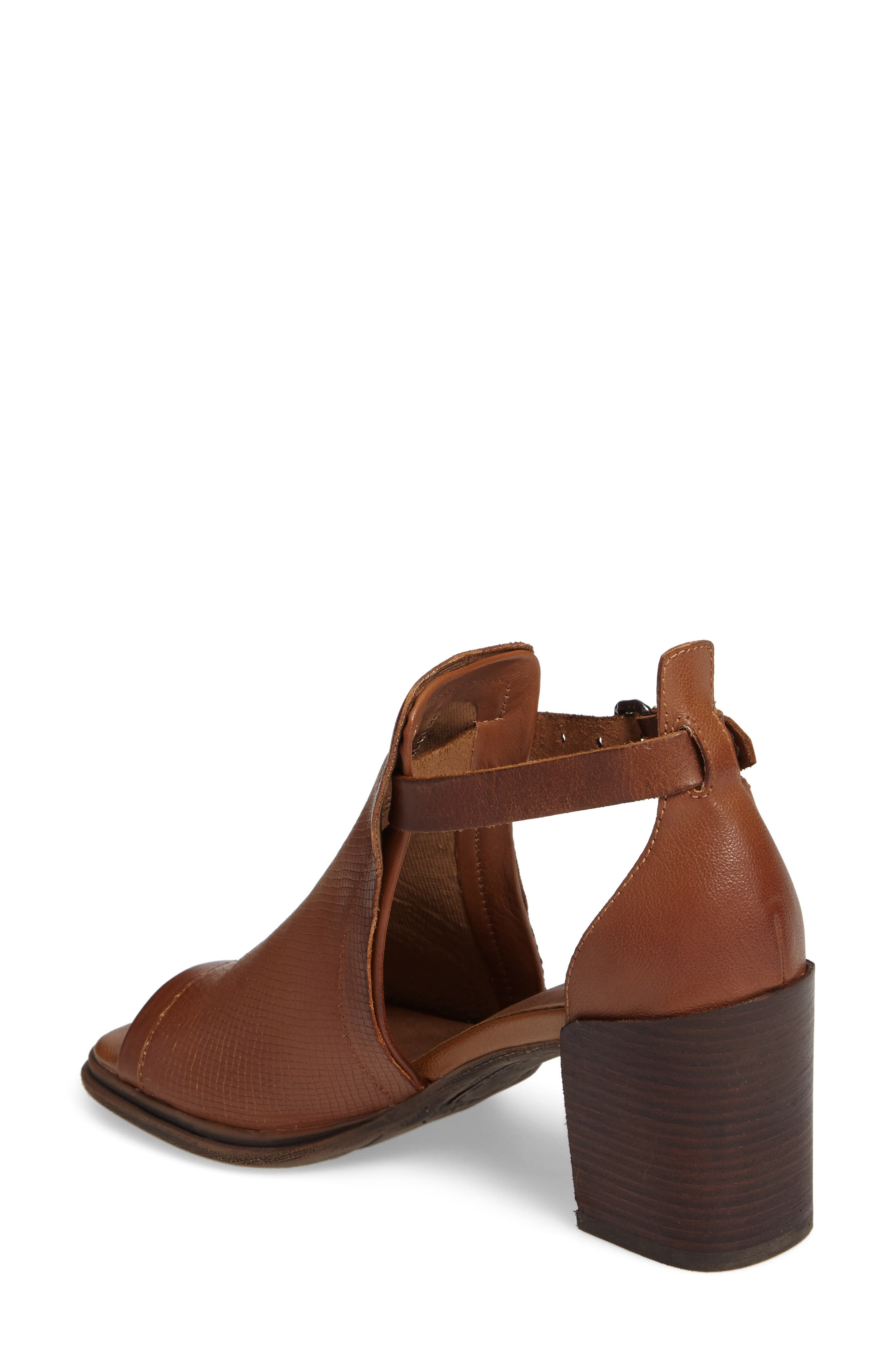 Metaphor Open Side Bootie,                             Alternate thumbnail 2, color,                             Medium Brown Leather