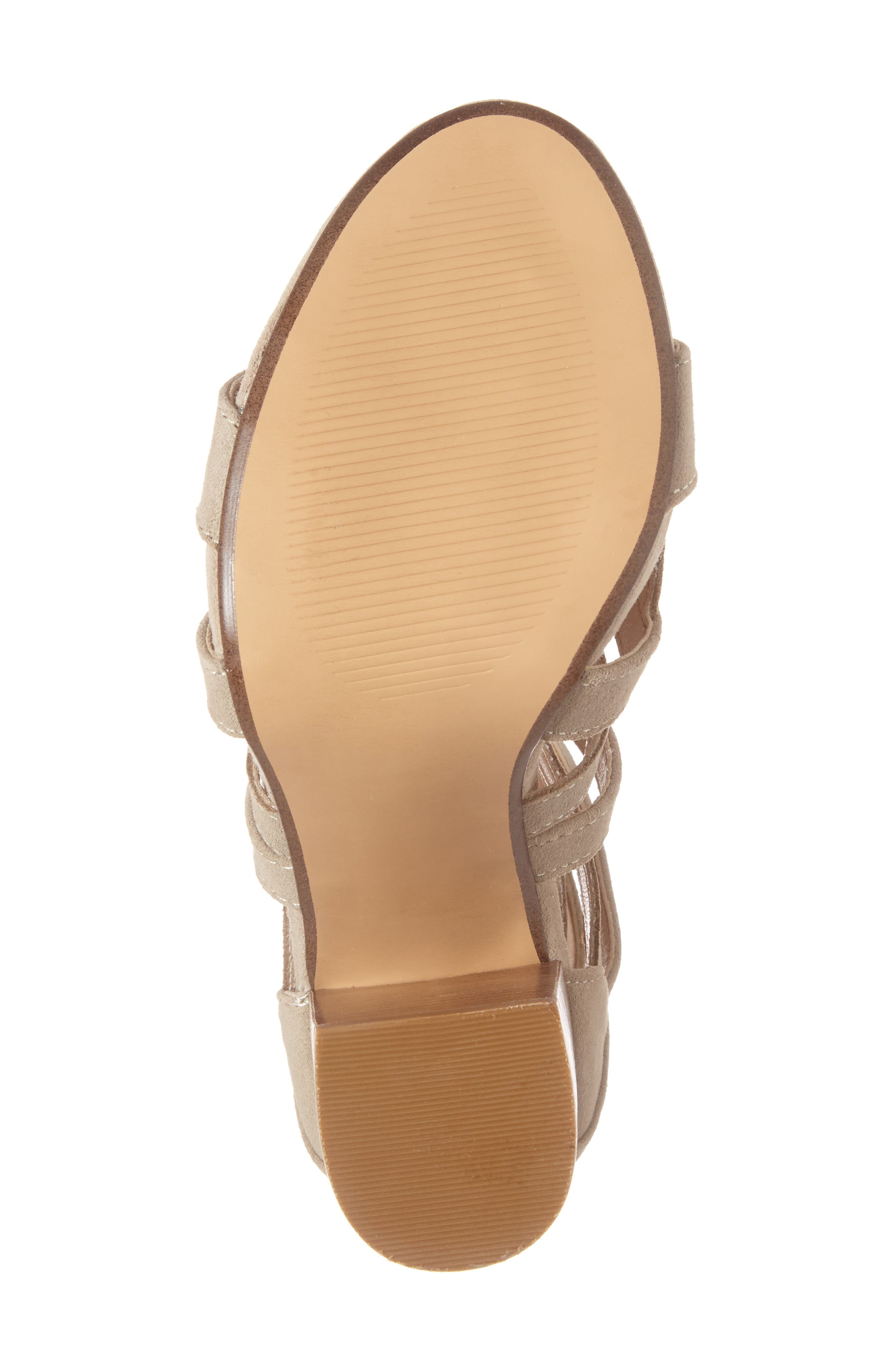 Gwyneth Sandal,                             Alternate thumbnail 6, color,                             Taupe Suede