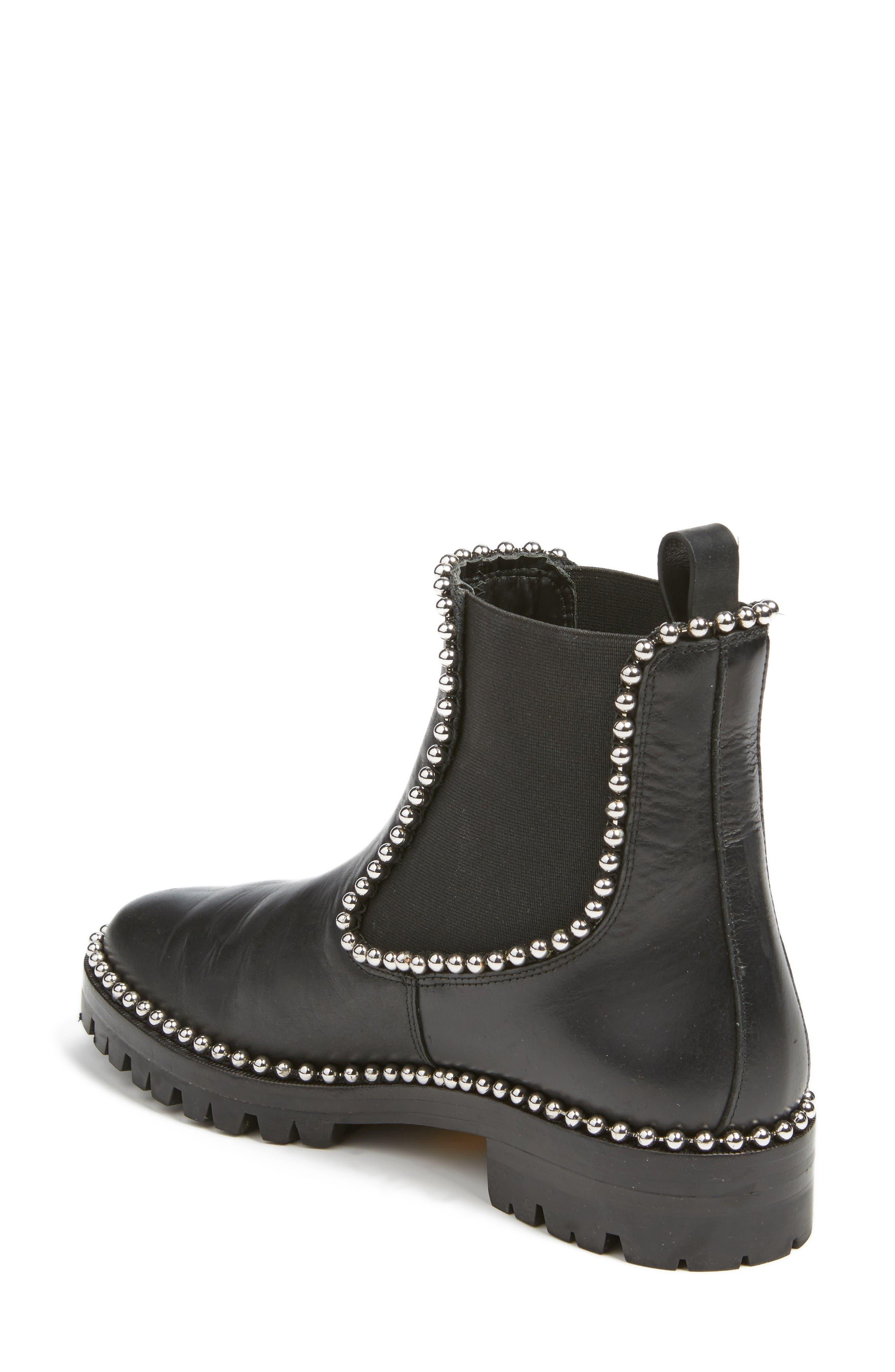 Spencer Chelsea Boot,                             Alternate thumbnail 2, color,                             Black Leather