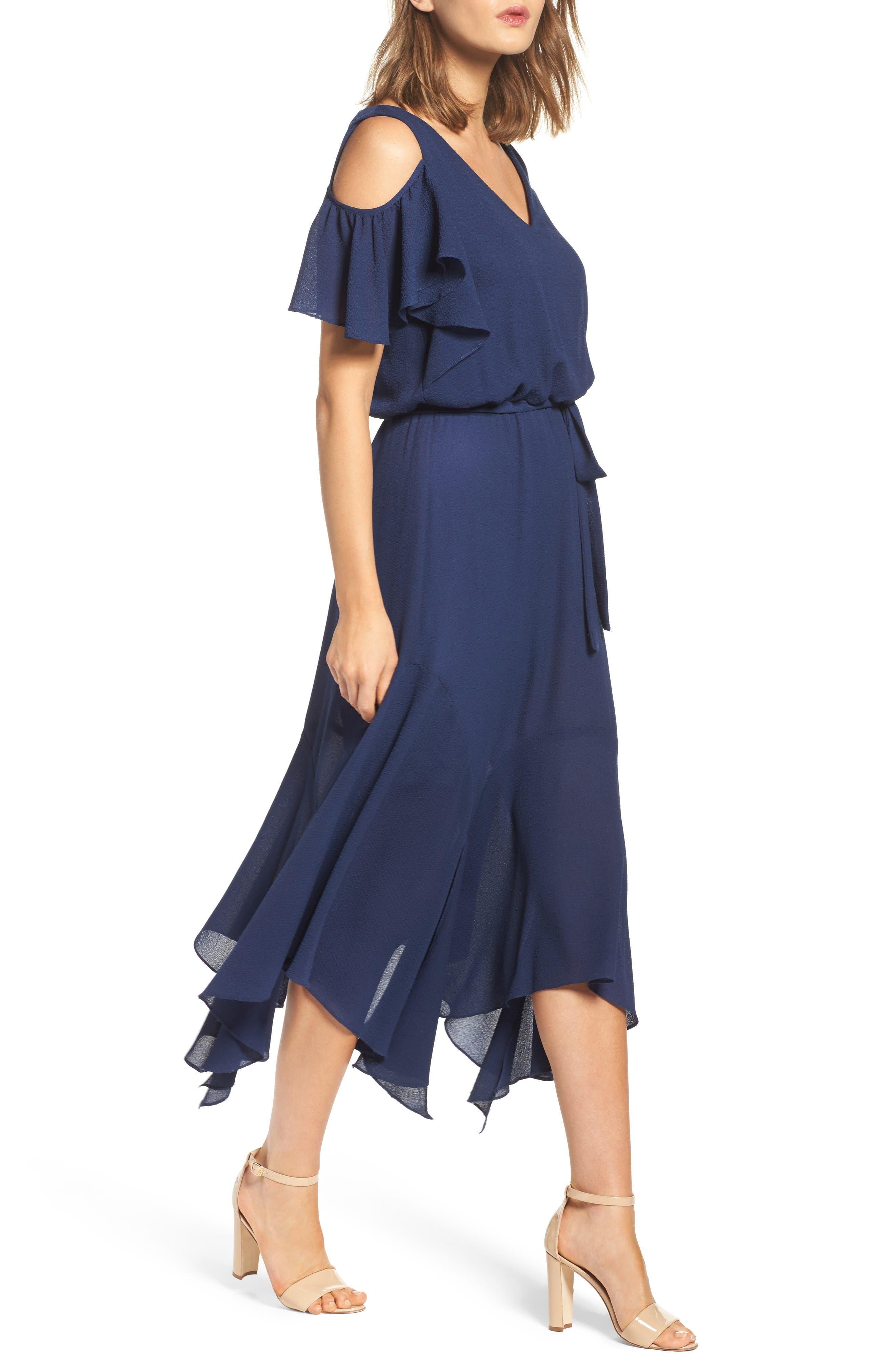 Alternate Image 3  - Maggy London Cold Shoulder Midi Dress (Regular & Petite)