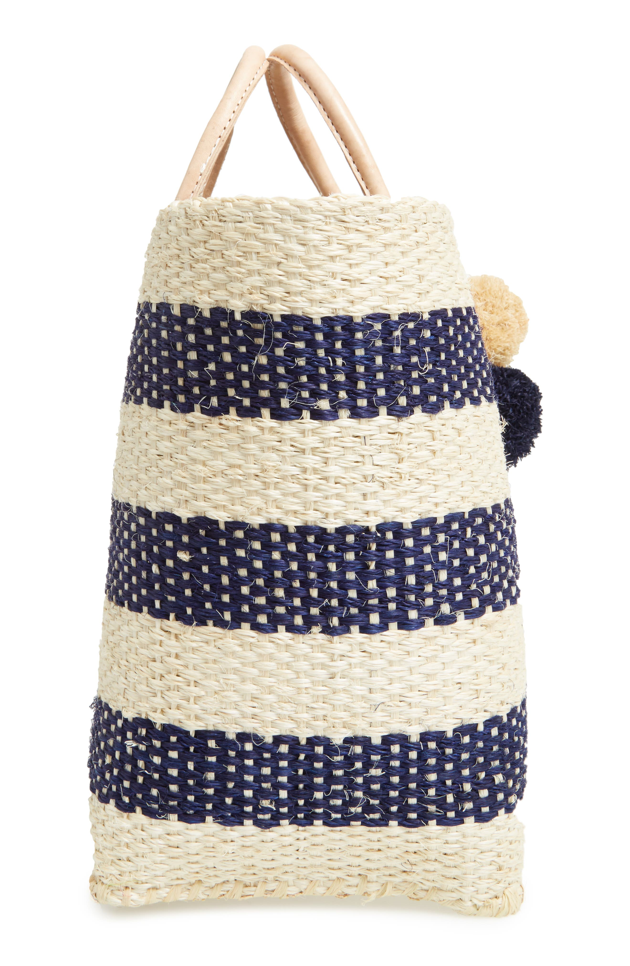 'Collins' Woven Tote,                             Alternate thumbnail 5, color,                             Navy