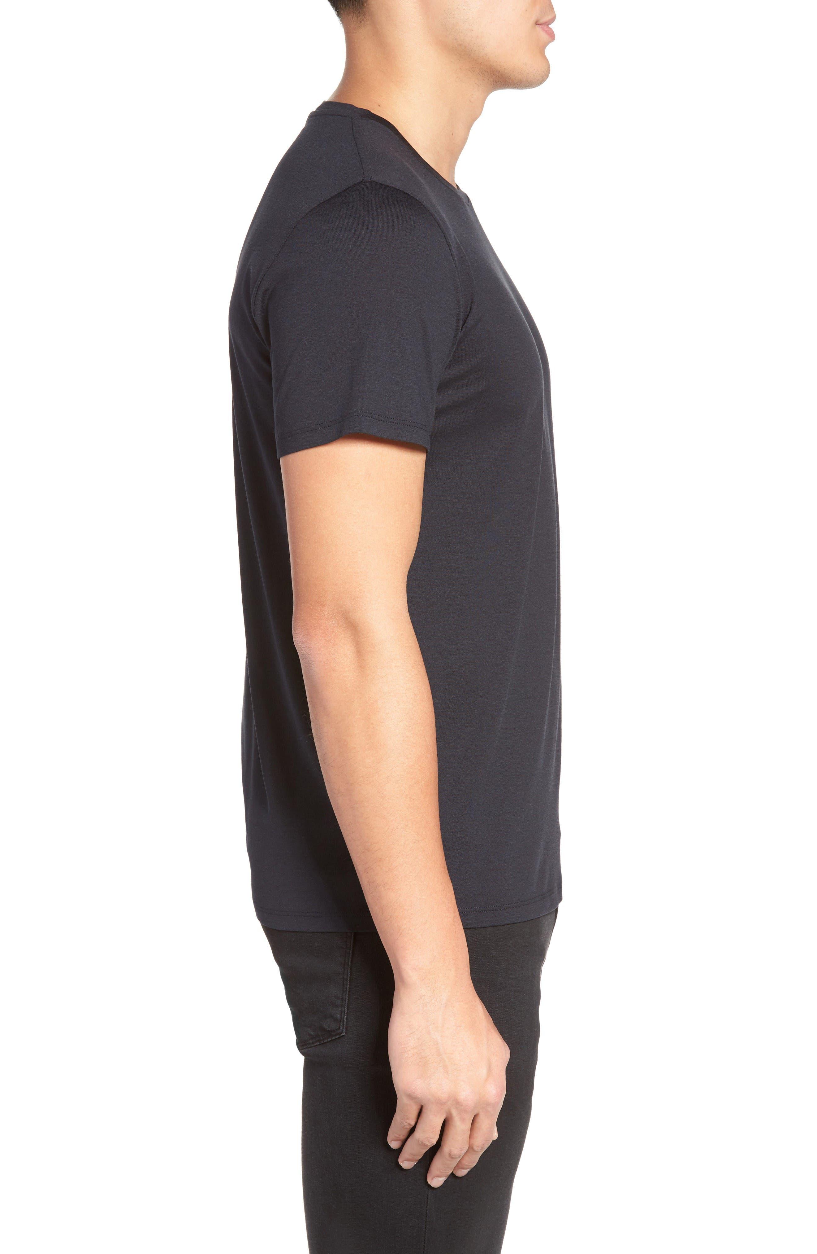 Alternate Image 3  - Theory Silk & Cotton Crewneck T-Shirt