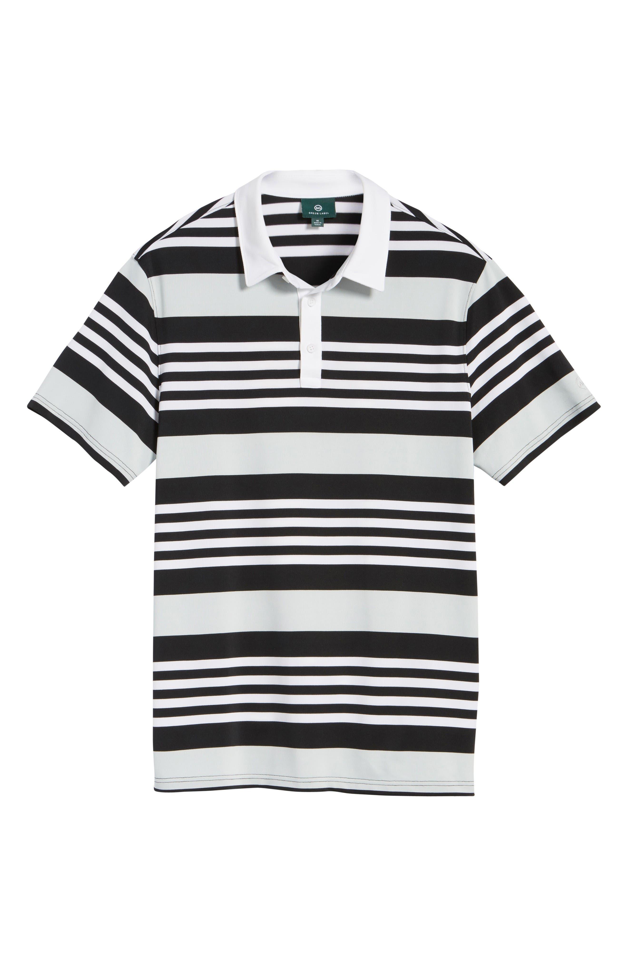 Alternate Image 6  - AG The Benson Stripe Piqué Polo